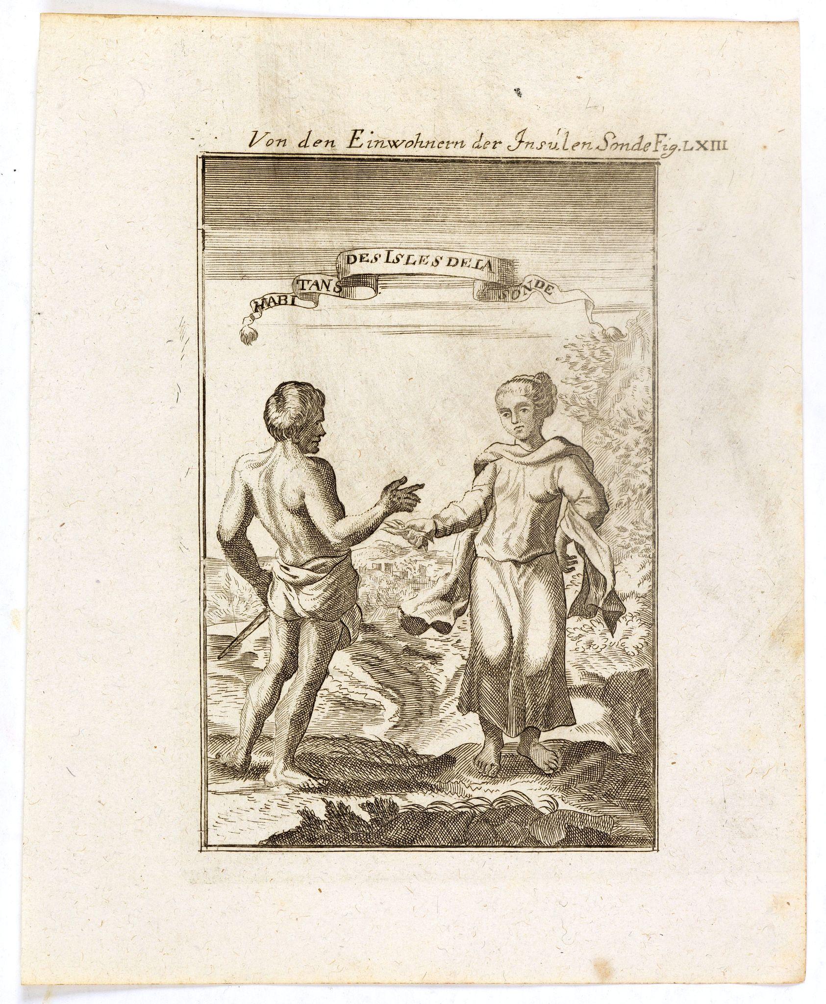 MALLET, A.M. -  Von den Einwohnerne der Insulen Sonde (Fig LXIII).