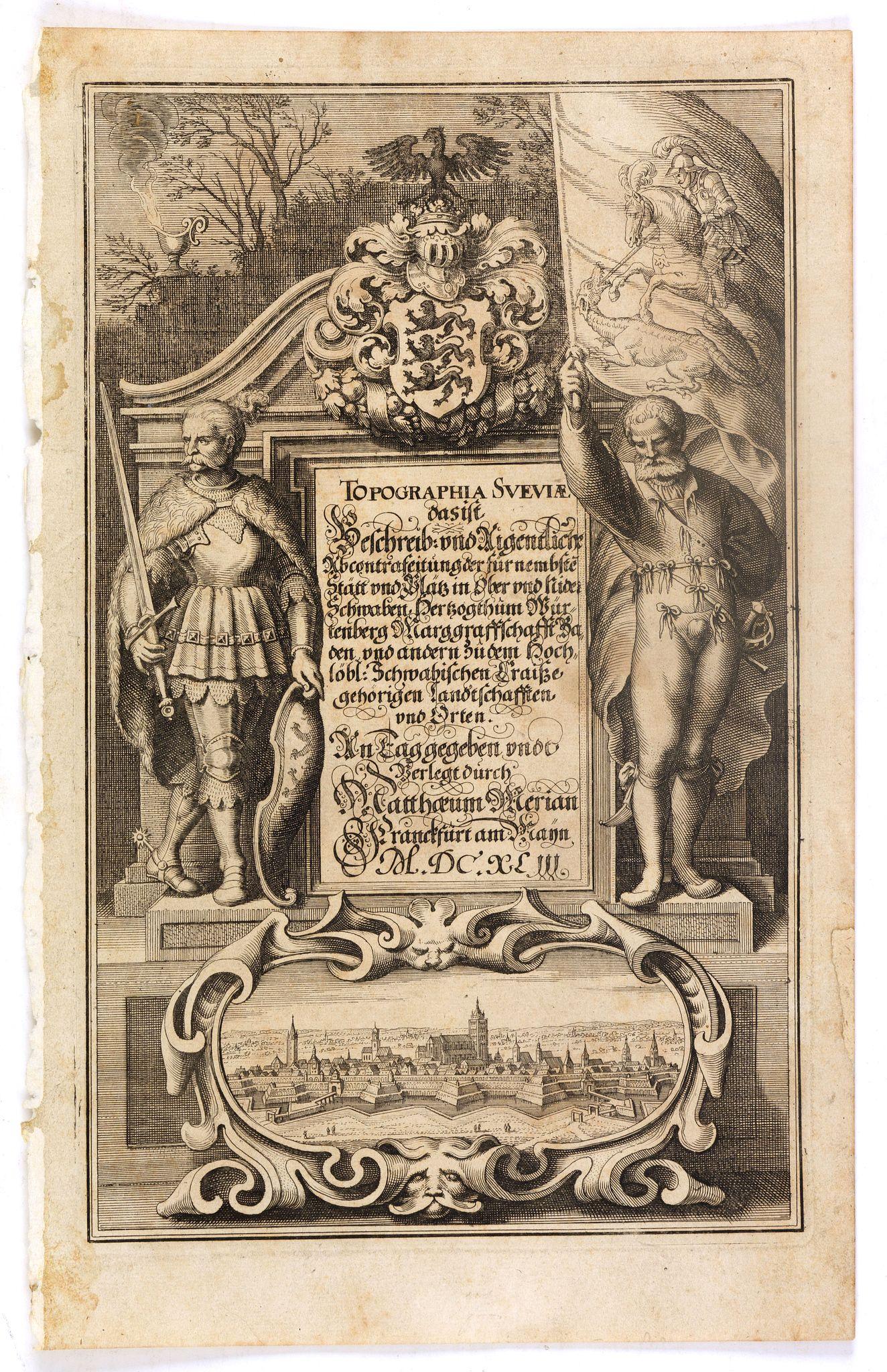 MERIAN, C. -  (Title page) Topographia Sueviae dasist . . .