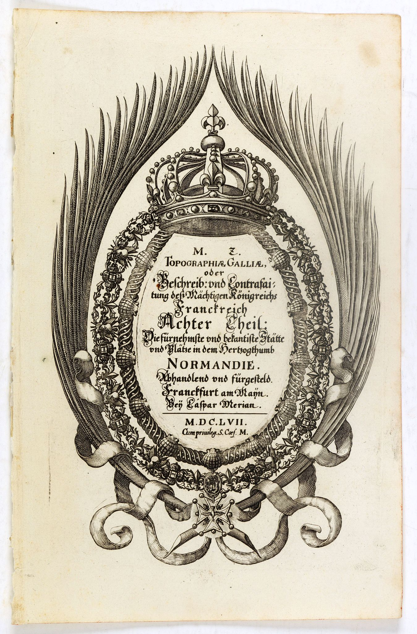 MERIAN, C. -  (Title page ) Topographia Galliae. . .