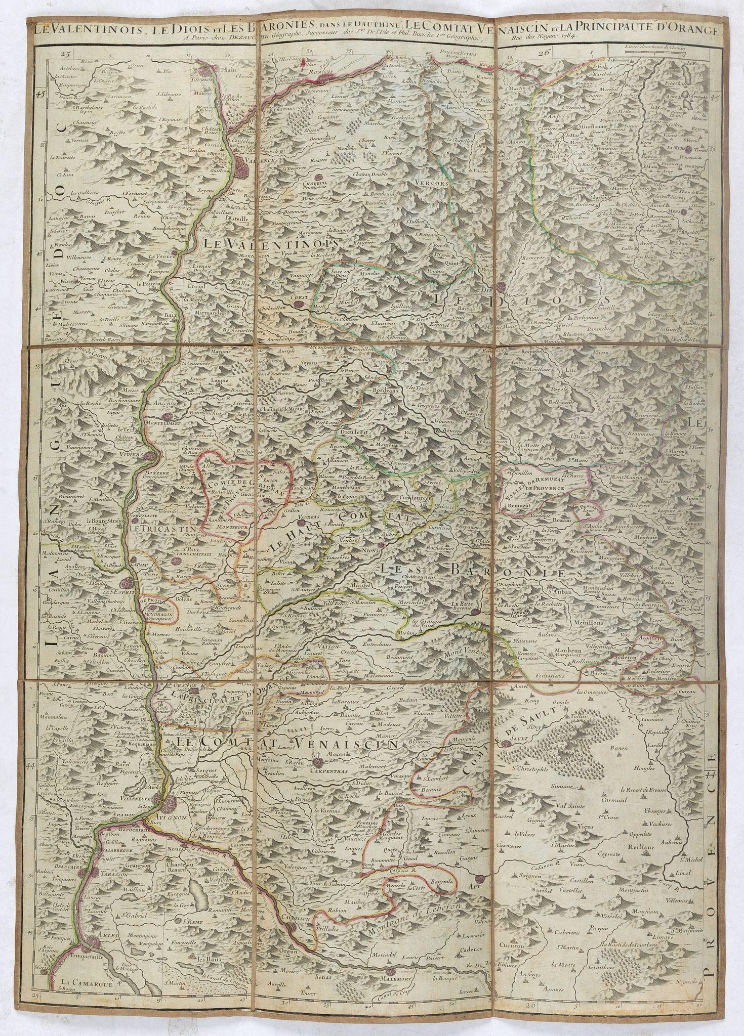 JAILLOT, A.H. / DEZAUCHE -  Le Valentinois, le Diois et les Baronies dans le Dauphiné: Le Comtat Vnaiscin et Principauté d'Orange.