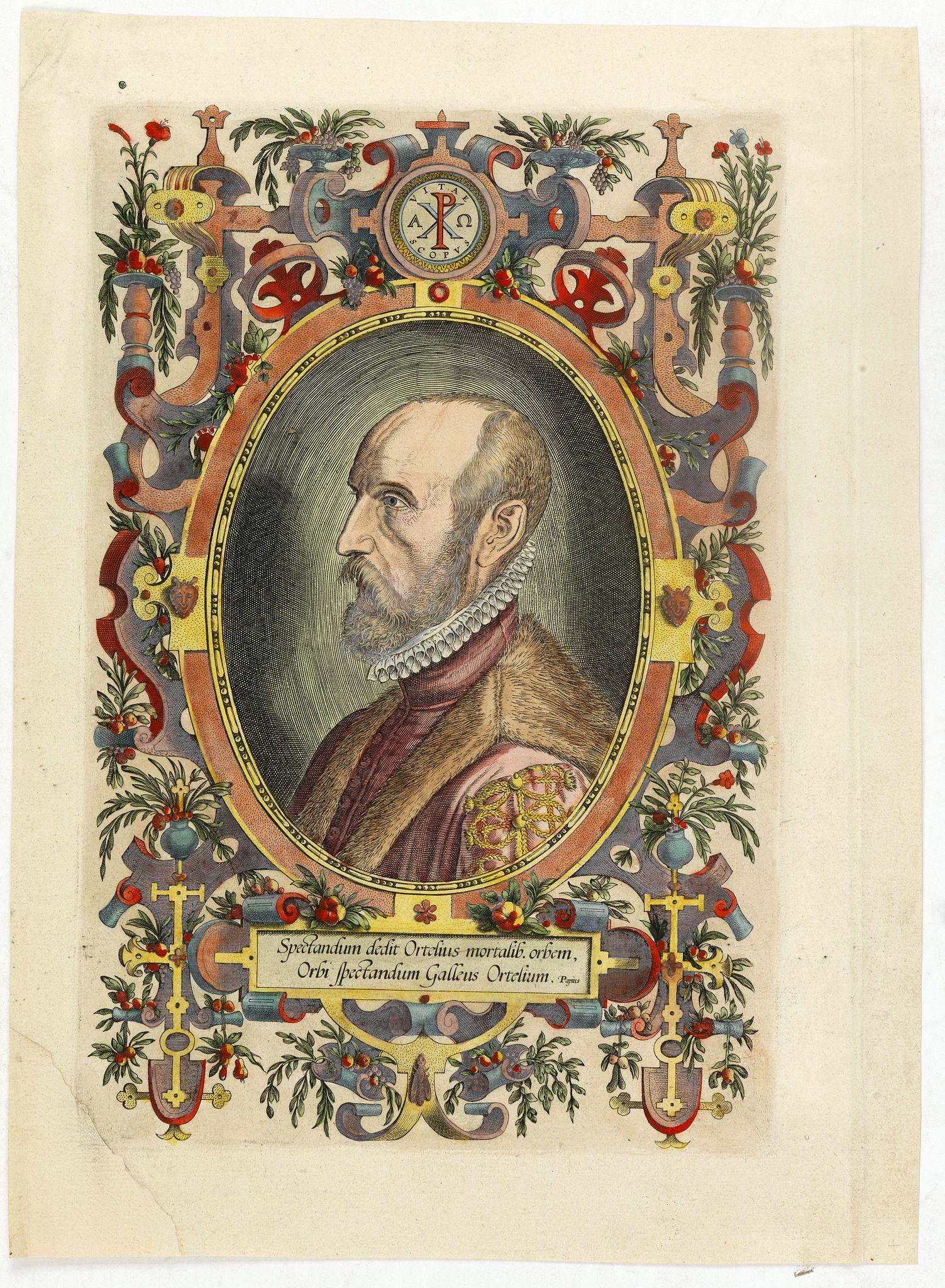 ORTELIUS,A. -  (Portrait of Abraham Ortelius)