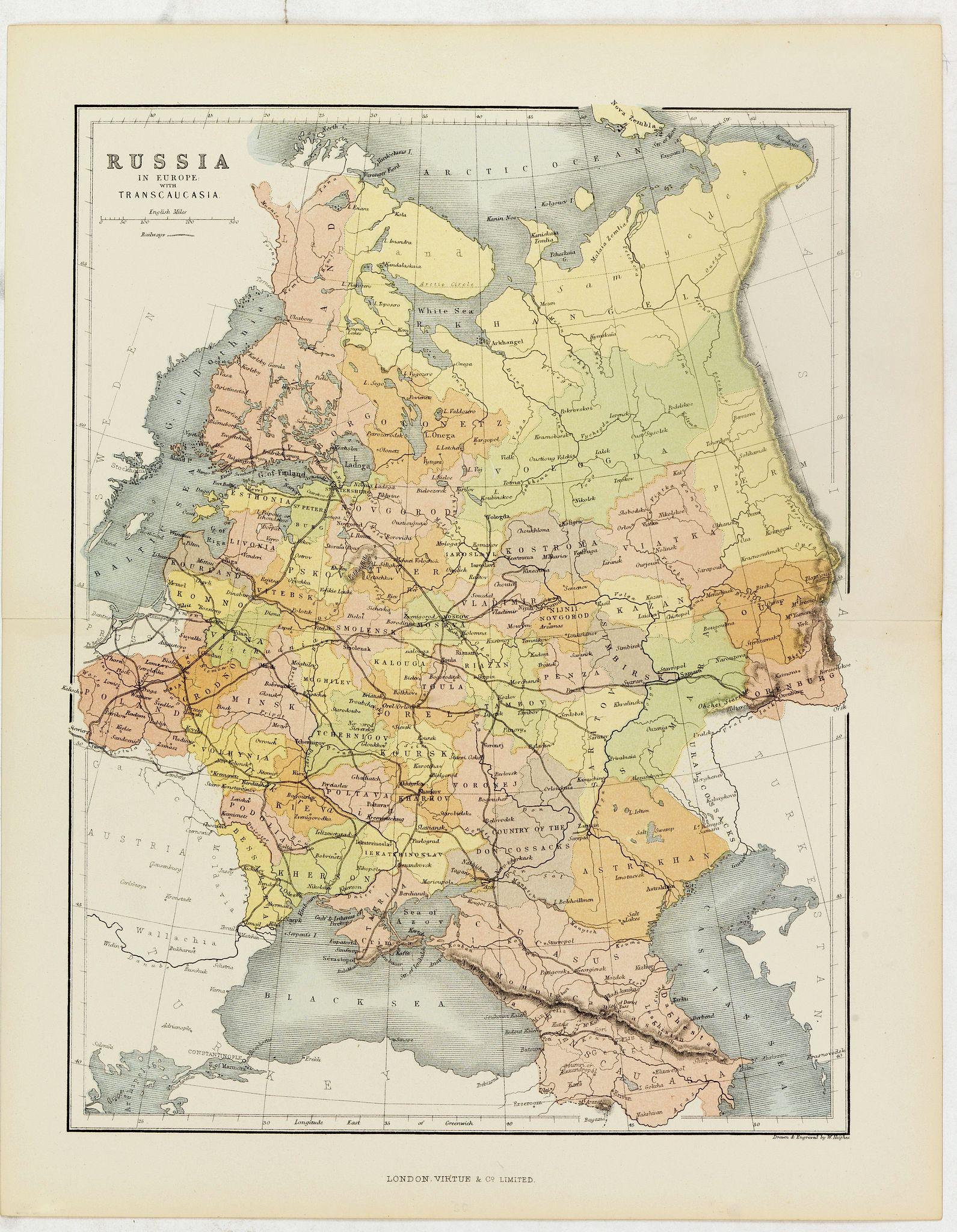 HUGHES, W. -  Russia in Europe with Transcaucasia.
