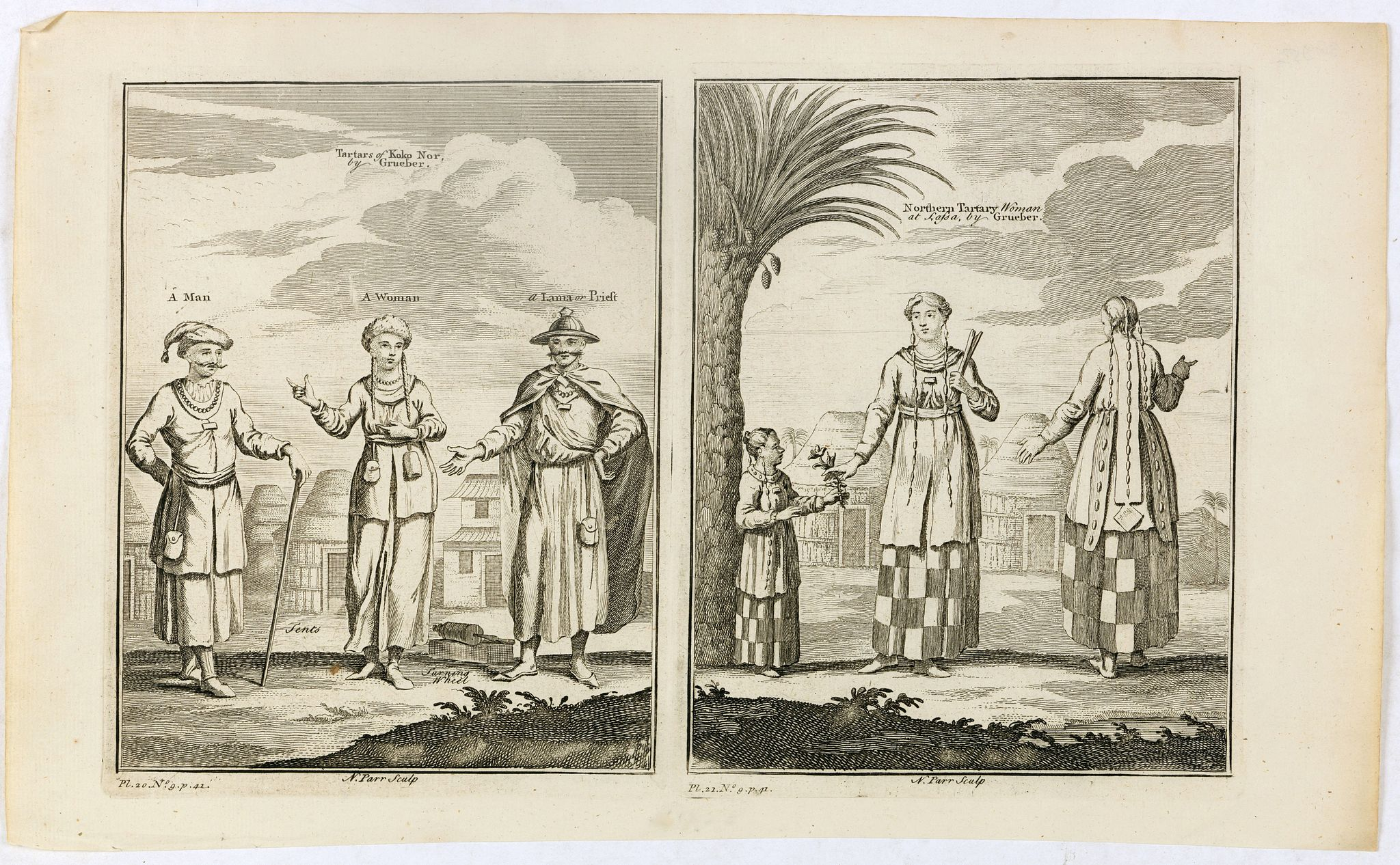 PARR, N. -  Tartars of Koko Nor [ together with] Nothern Tartary Woman at Lafsa.