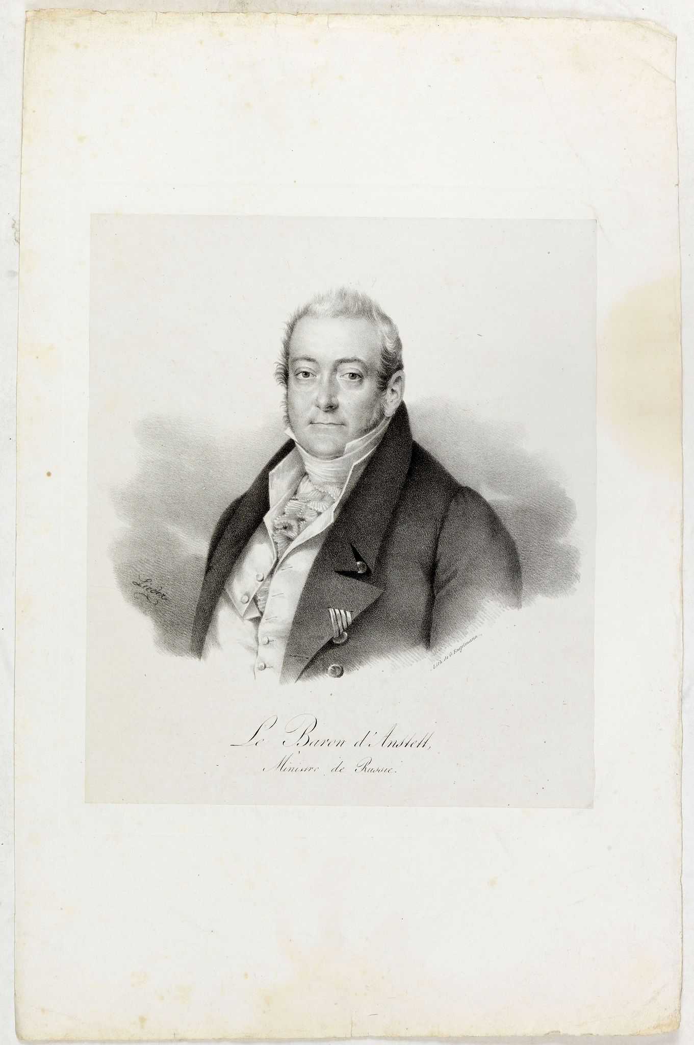 ENGELMANN, G. -  Le Baron d'Amstett. Ministre de Russie.