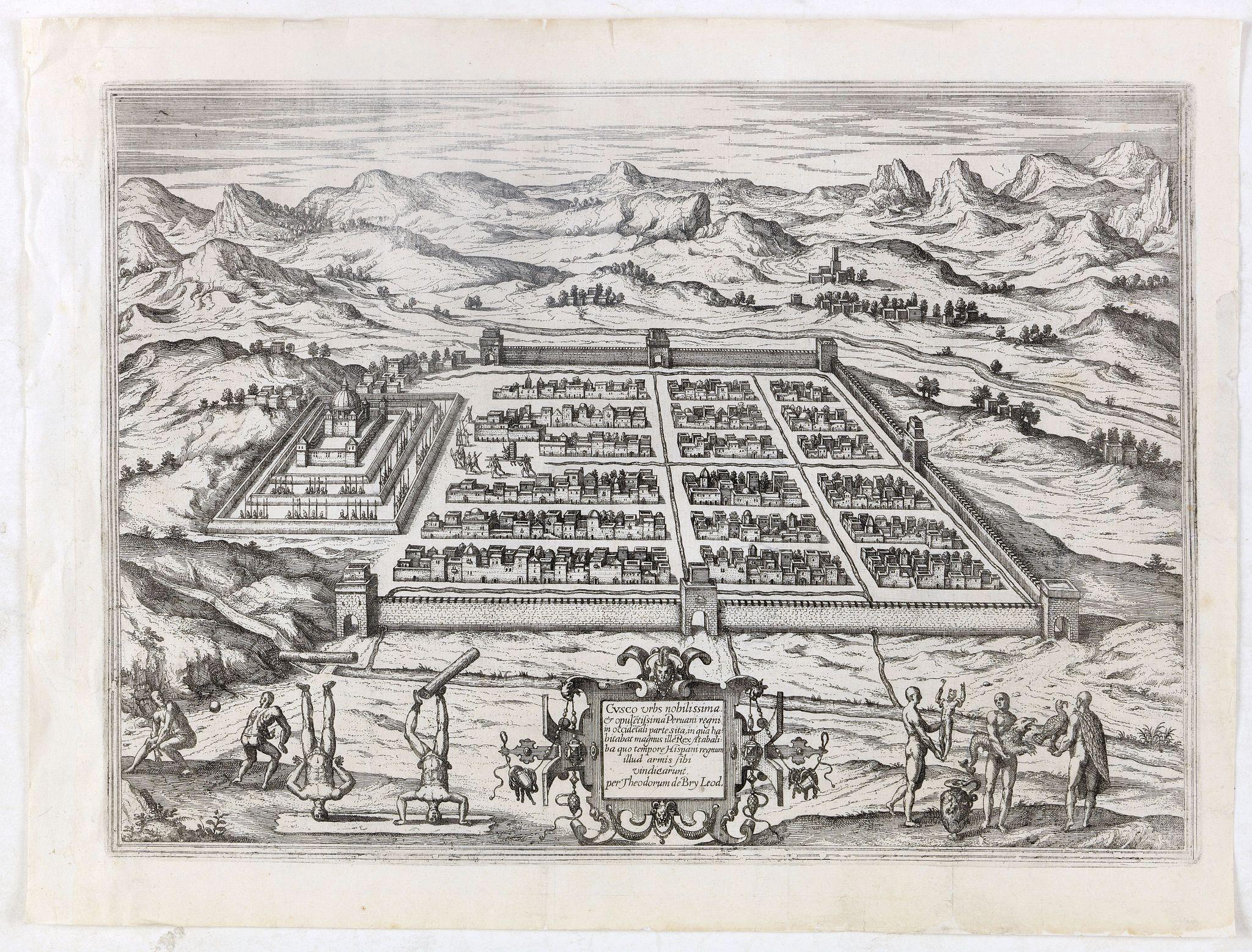 DE BRY, Th. -  Cusco urbs nobilissima & opule[n]tissima Peruani regni in occide[n]tali parte. . .