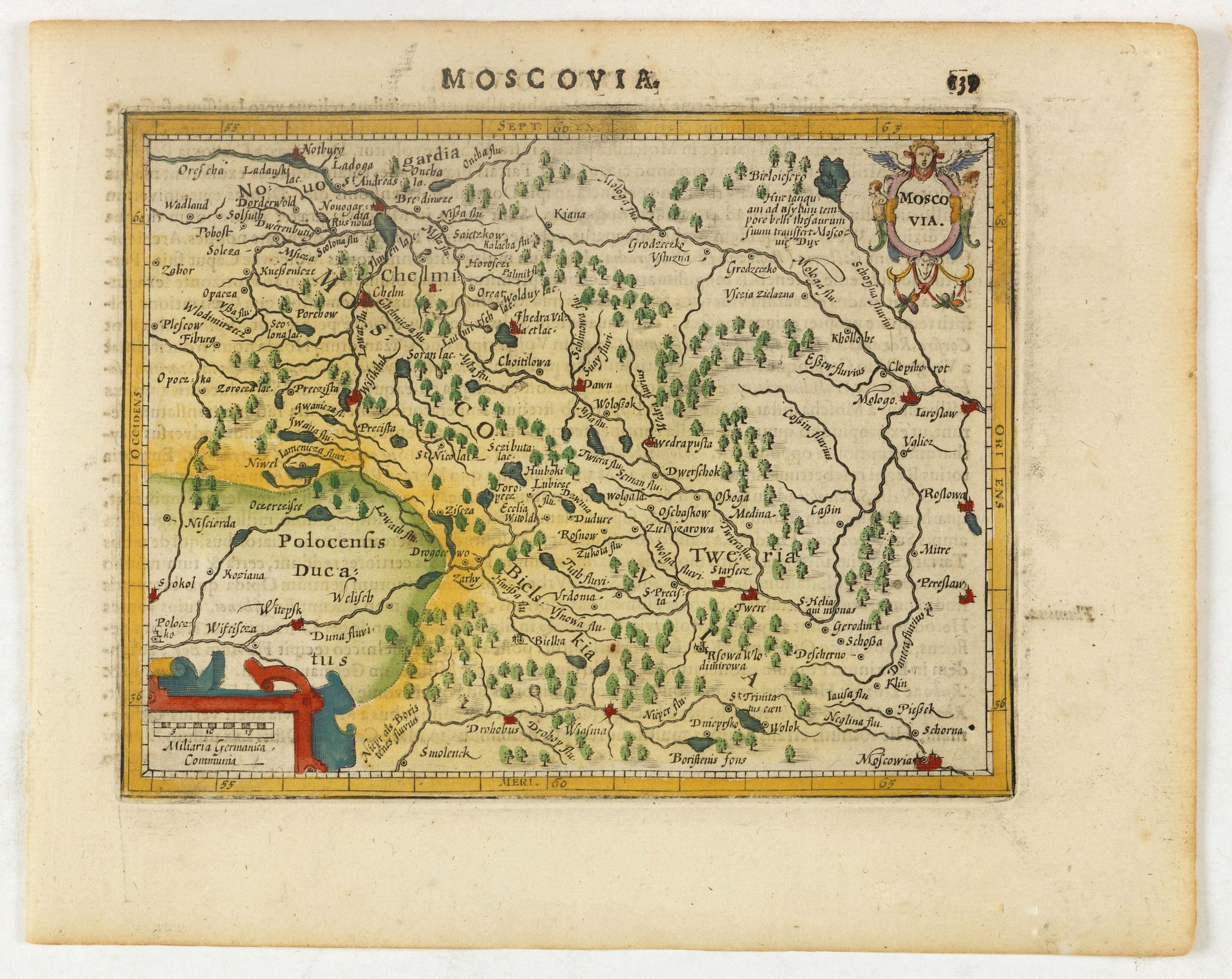 HONDIUS, J. -  Moscovia.
