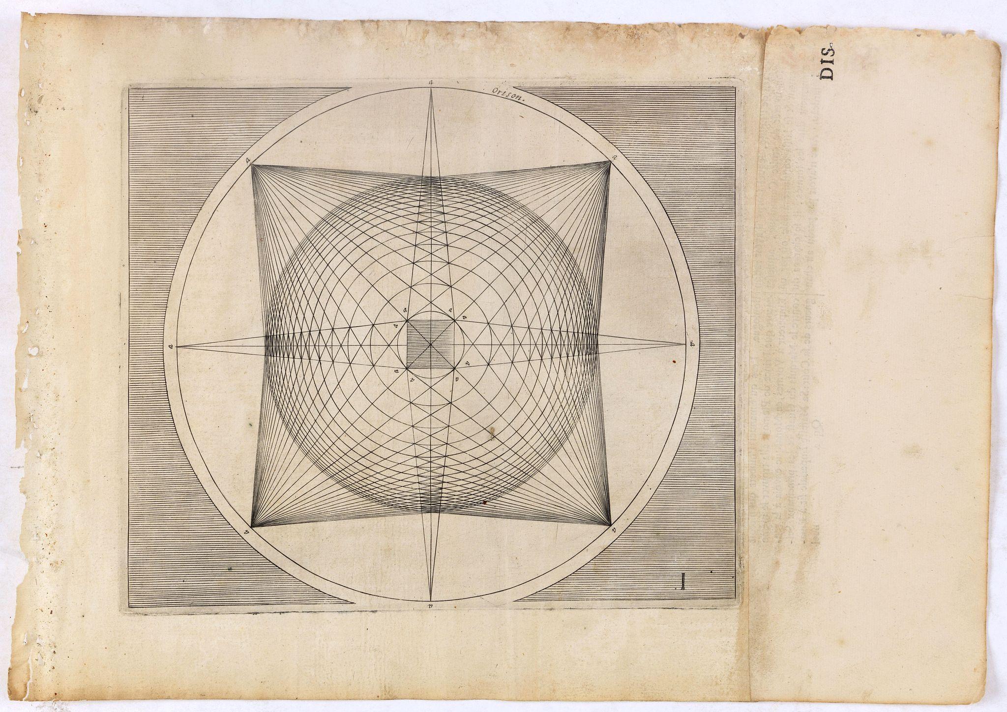 VREDEMAN DE VRIES, J. / HONDIUS, H. -  Perspective print by Vredeman de Vries. I