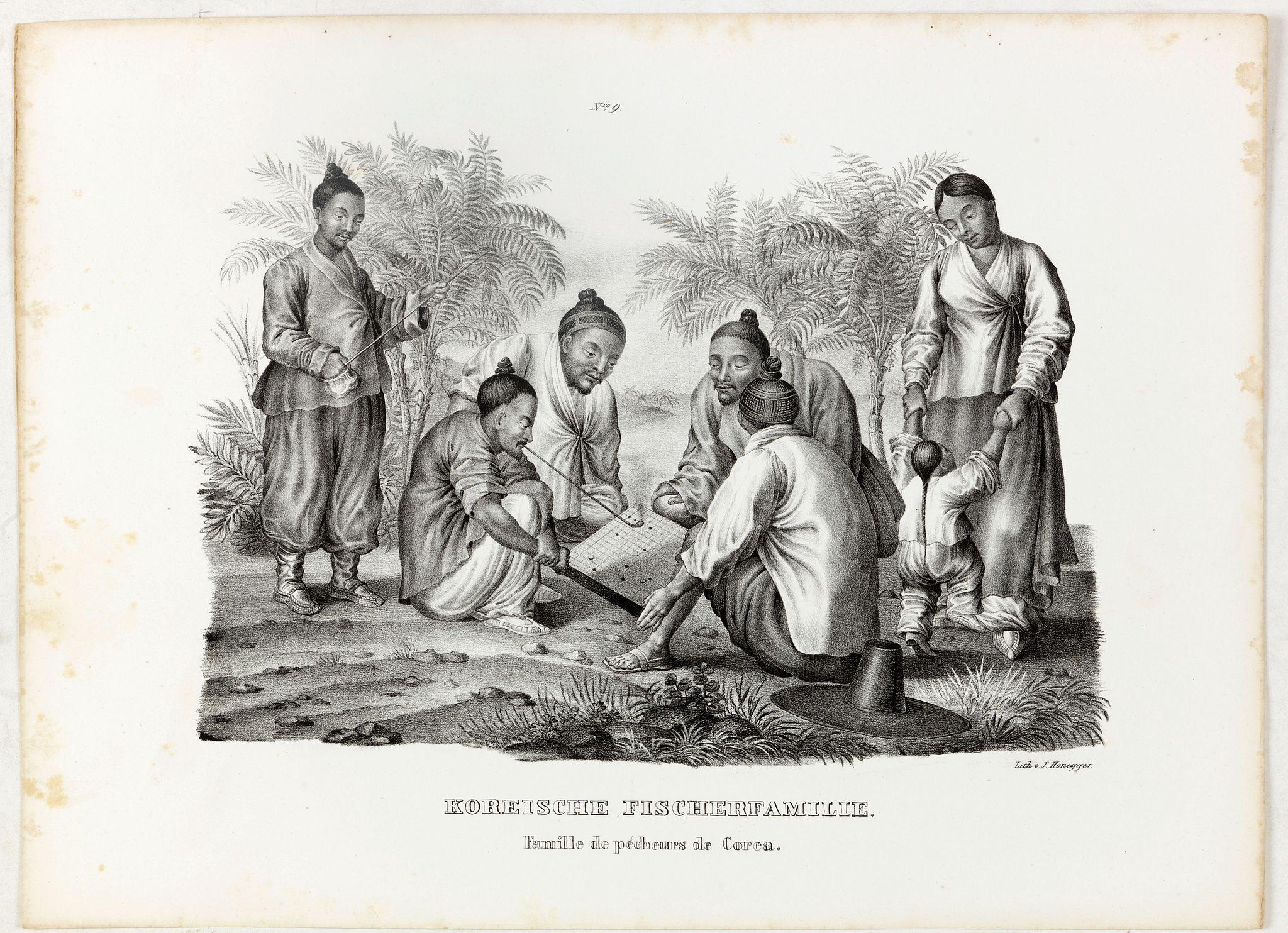 HONEGGER, V. -  Koreische Fischerfamilie. Famille de pecheurs de Corea.