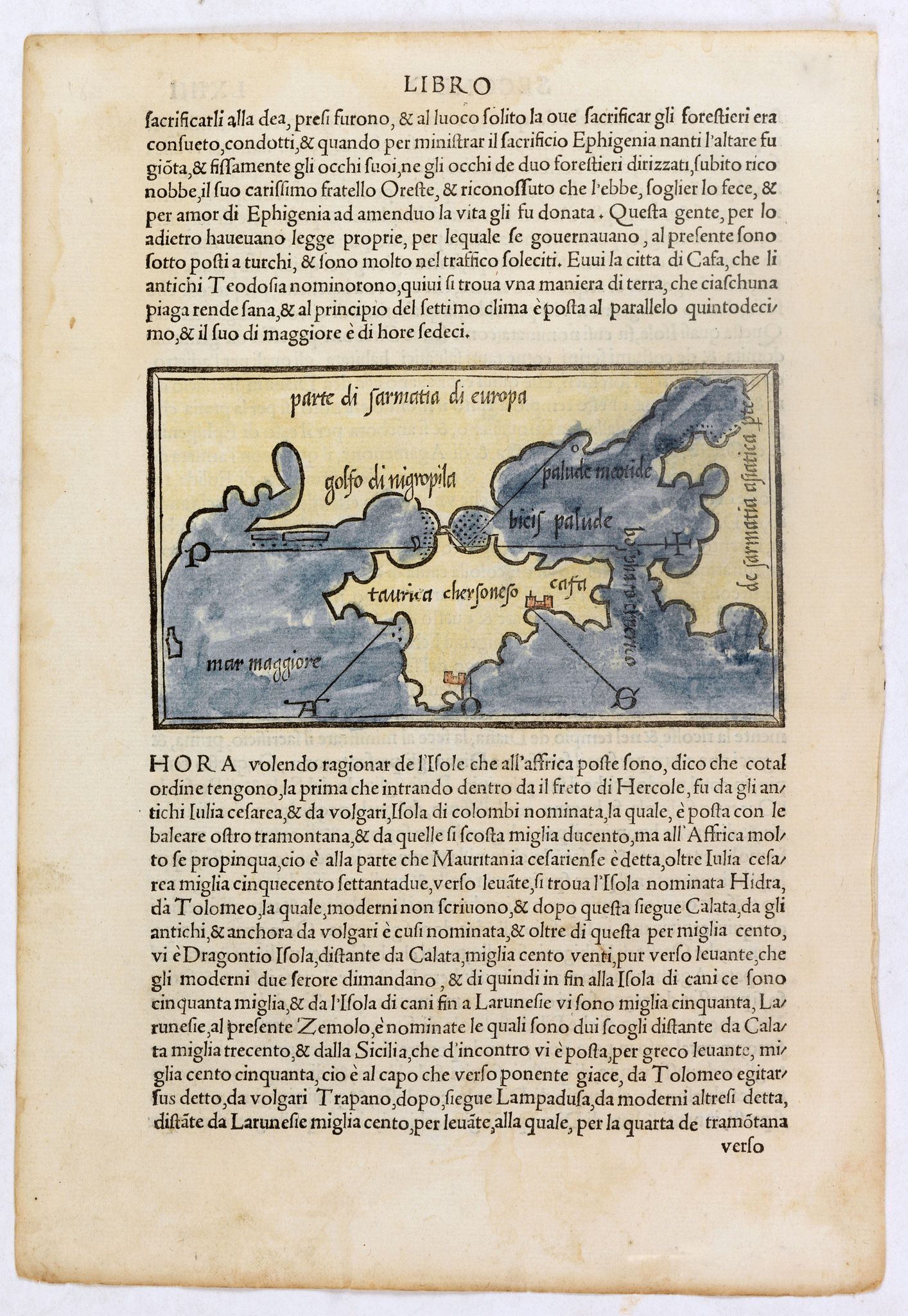 BORDONE,B.,  [Taurica], antique map, old maps