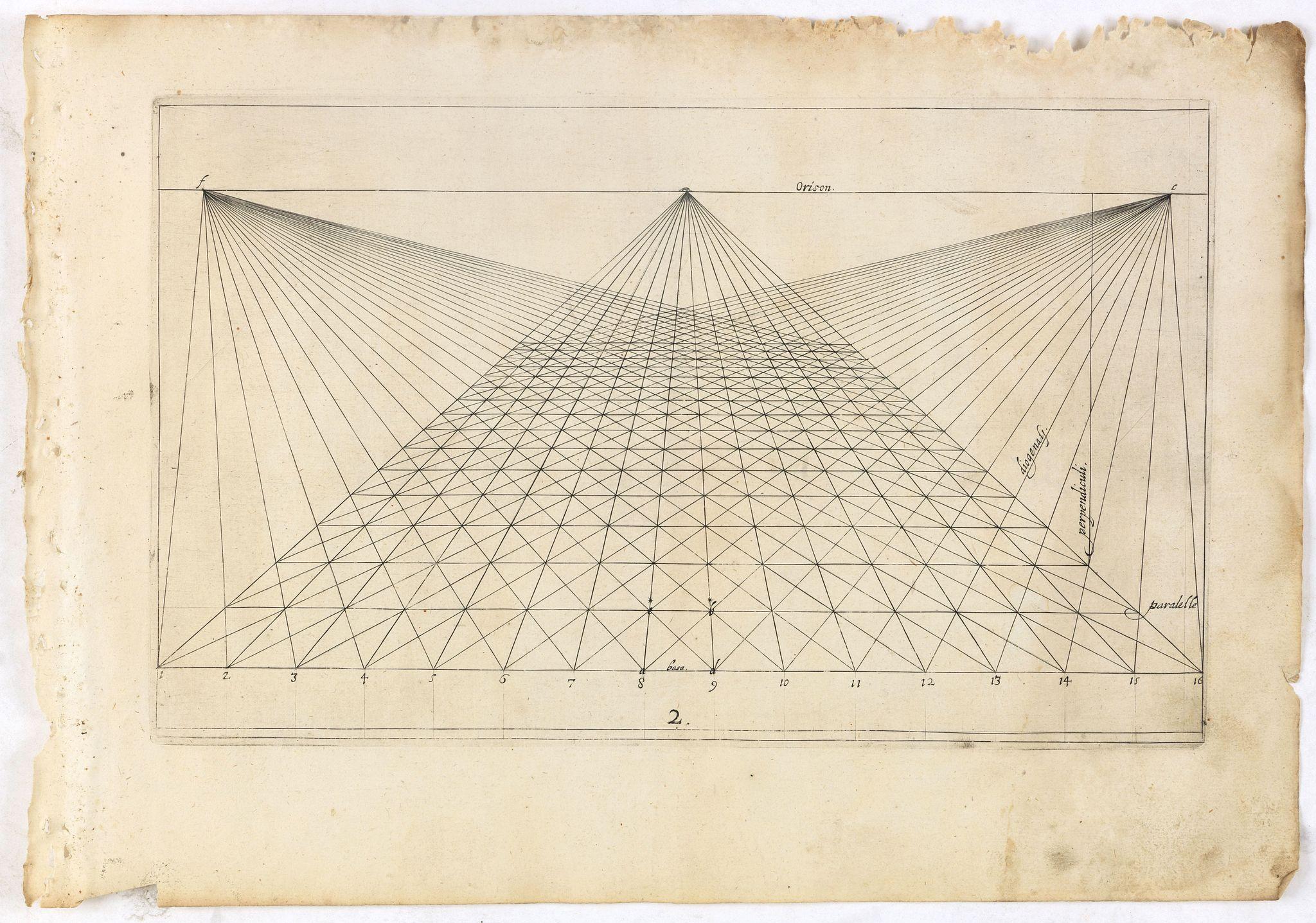 VREDEMAN DE VRIES, J. / HONDIUS, H. -  Perspective print by Vredeman de Vries. 2