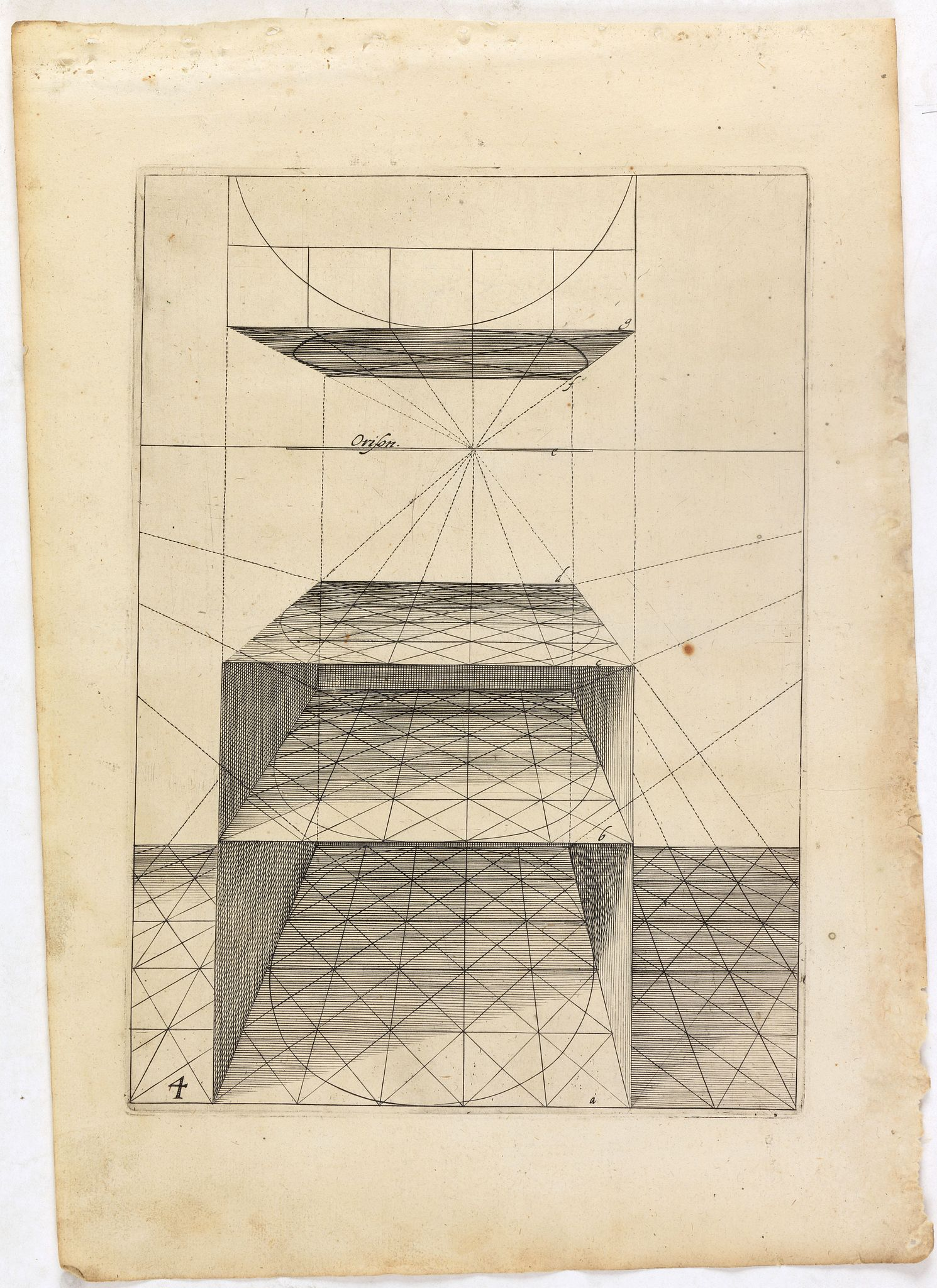 VREDEMAN DE VRIES, J. / HONDIUS, H. -  Perspective print by Vredeman de Vries. 4