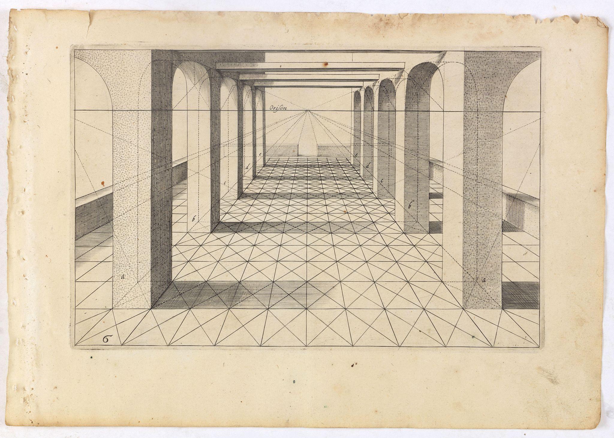 VREDEMAN DE VRIES, J. / HONDIUS, H. -  Perspective print by Vredeman de Vries. 6