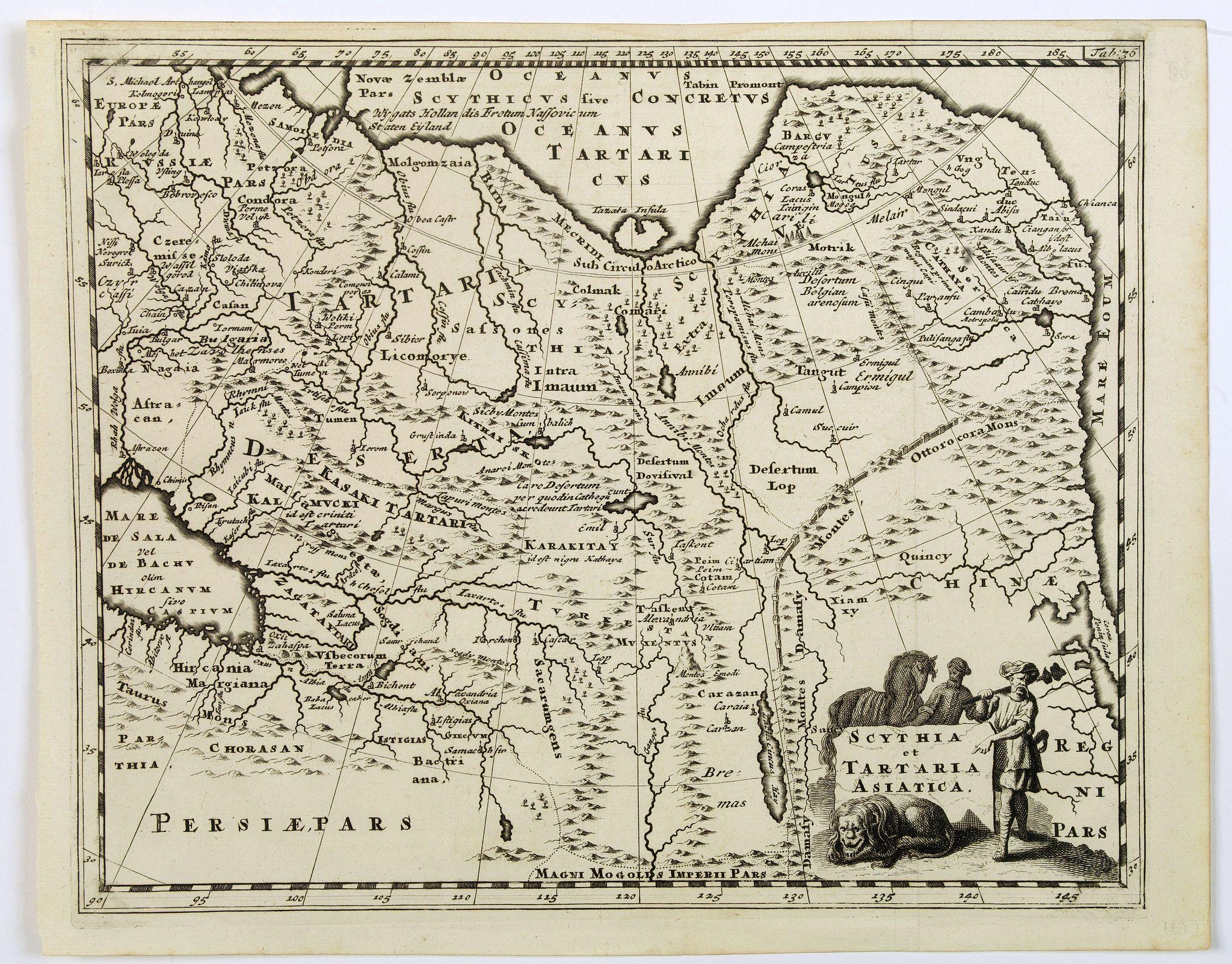 CLUVERIUS, P. -  Scythia et Tartaria Asiatica.
