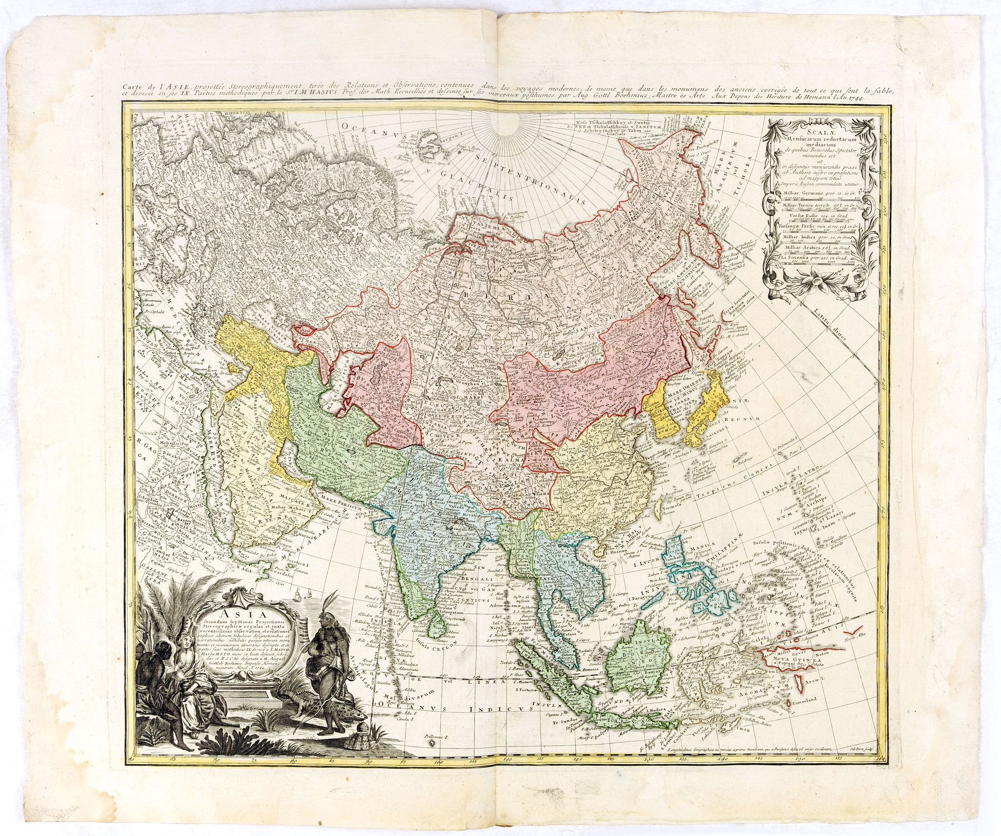 HOMANN HEIRS. -  Asia secundum legitimas projectionis stereographicae.