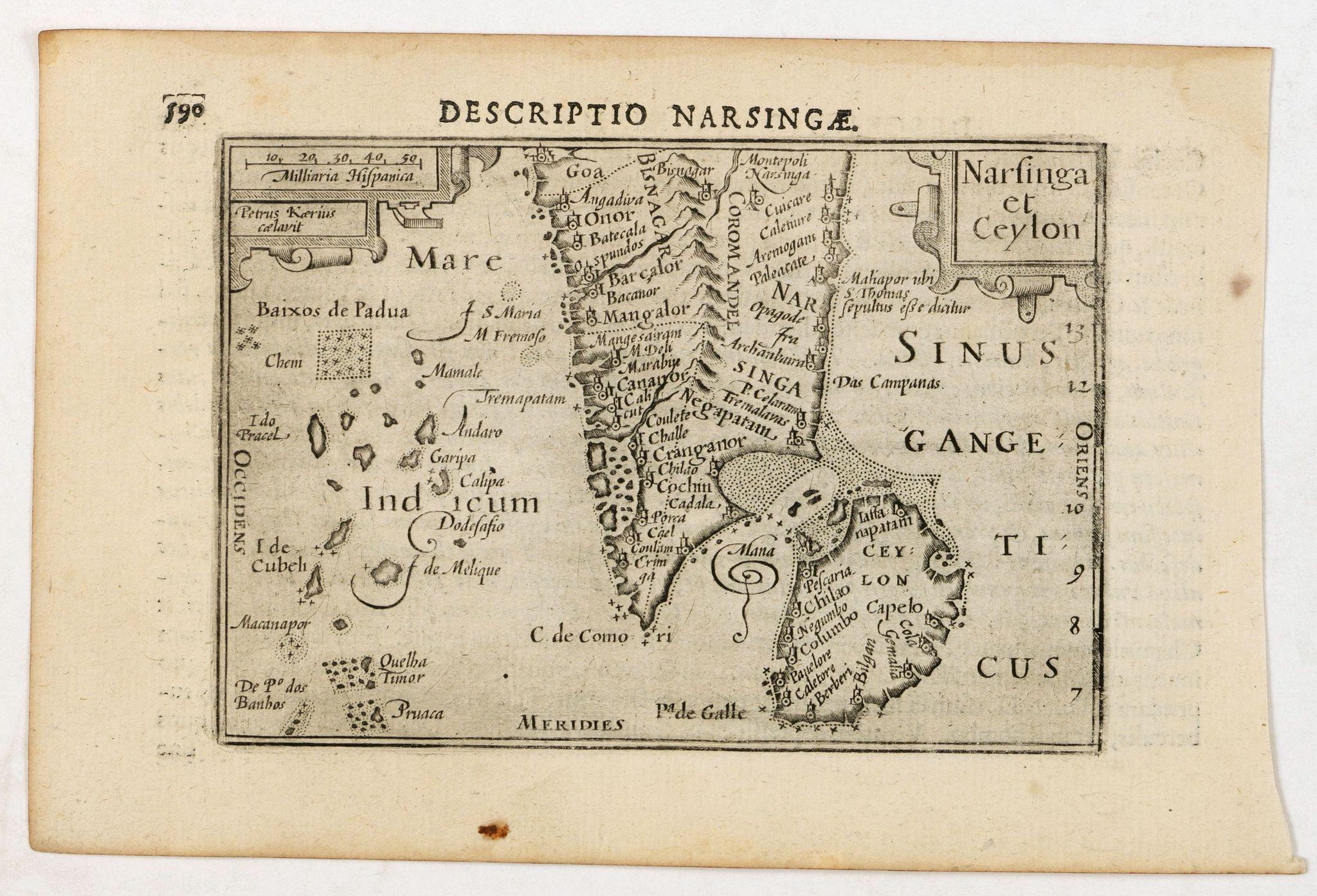 LANGENES, B. / BERTIUS, P. -  Descriptio Narsingae / Narsinga et Ceylon.