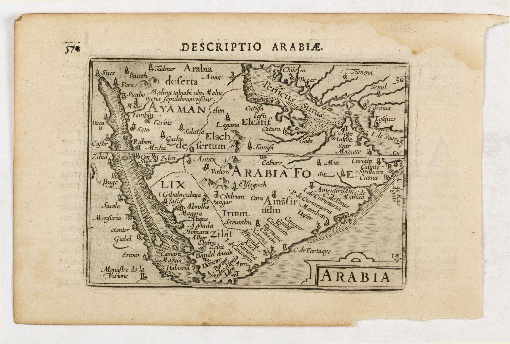 LANGENES, B. / BERTIUS, P. -  Descriptio Arabie / Arabia.
