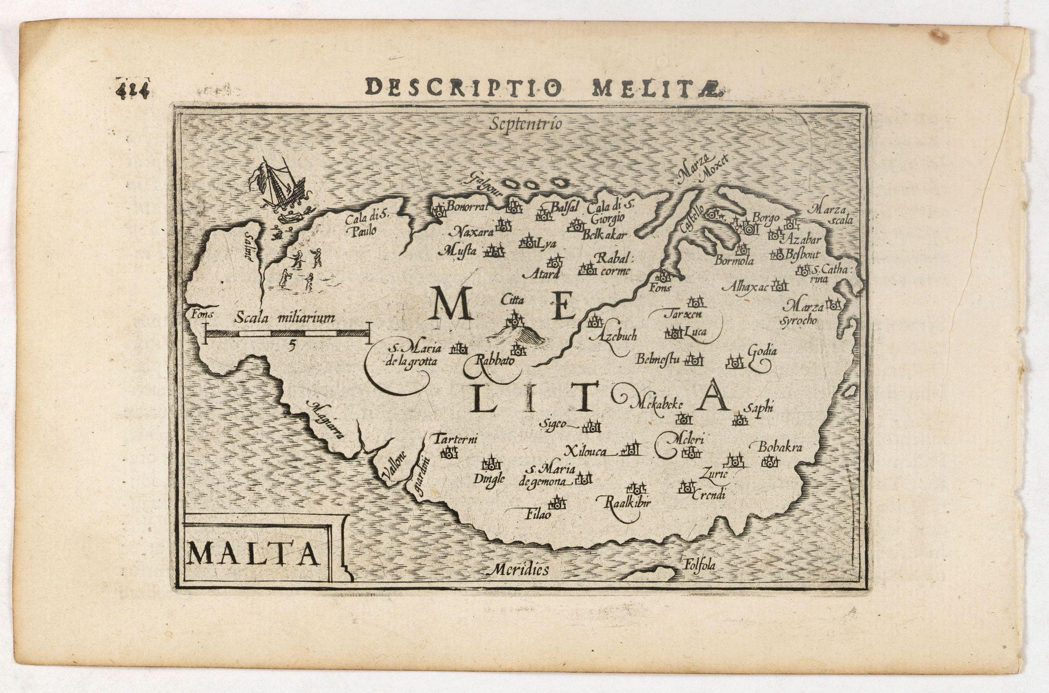LANGENES, B. / BERTIUS, P. -  Descriptio Melitae / Malta.