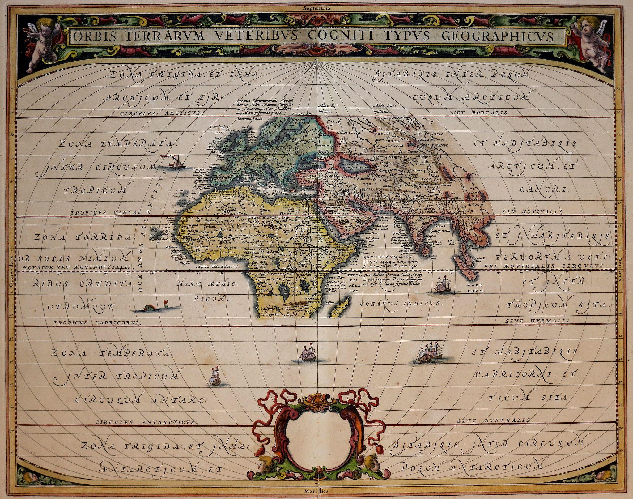 JANSSONIUS, J. - Orbis Terrarum Veteribus Cogniti Typus Geographicus.