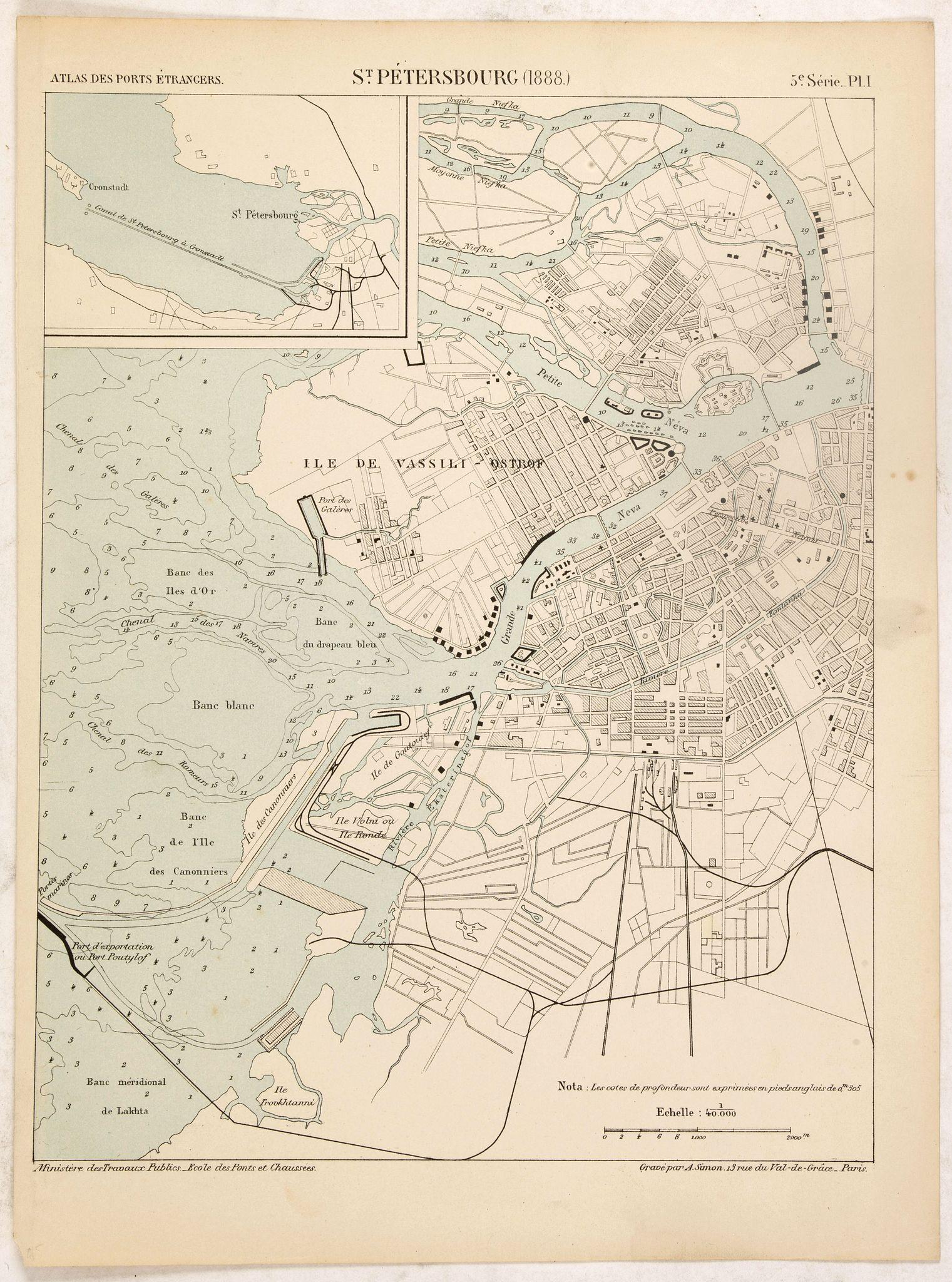 IMPRIMERIE NATIONALE -  St. Pétersbourg (1888).