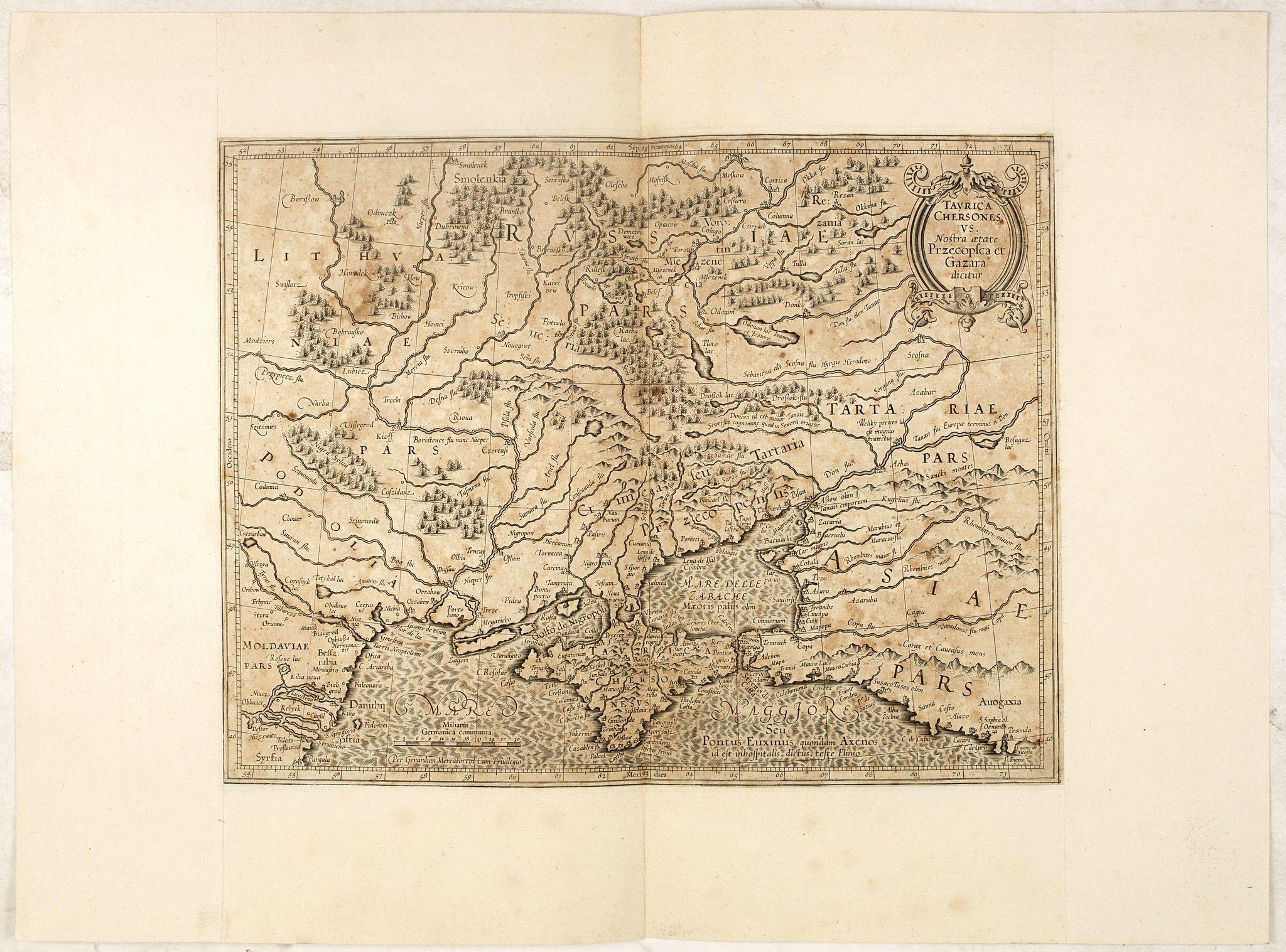 MERCATOR, G. / HONDIUS, J. -  Taurica Chersonesus, Nostra aetate Prezecopsca, et Gazara dicitur.