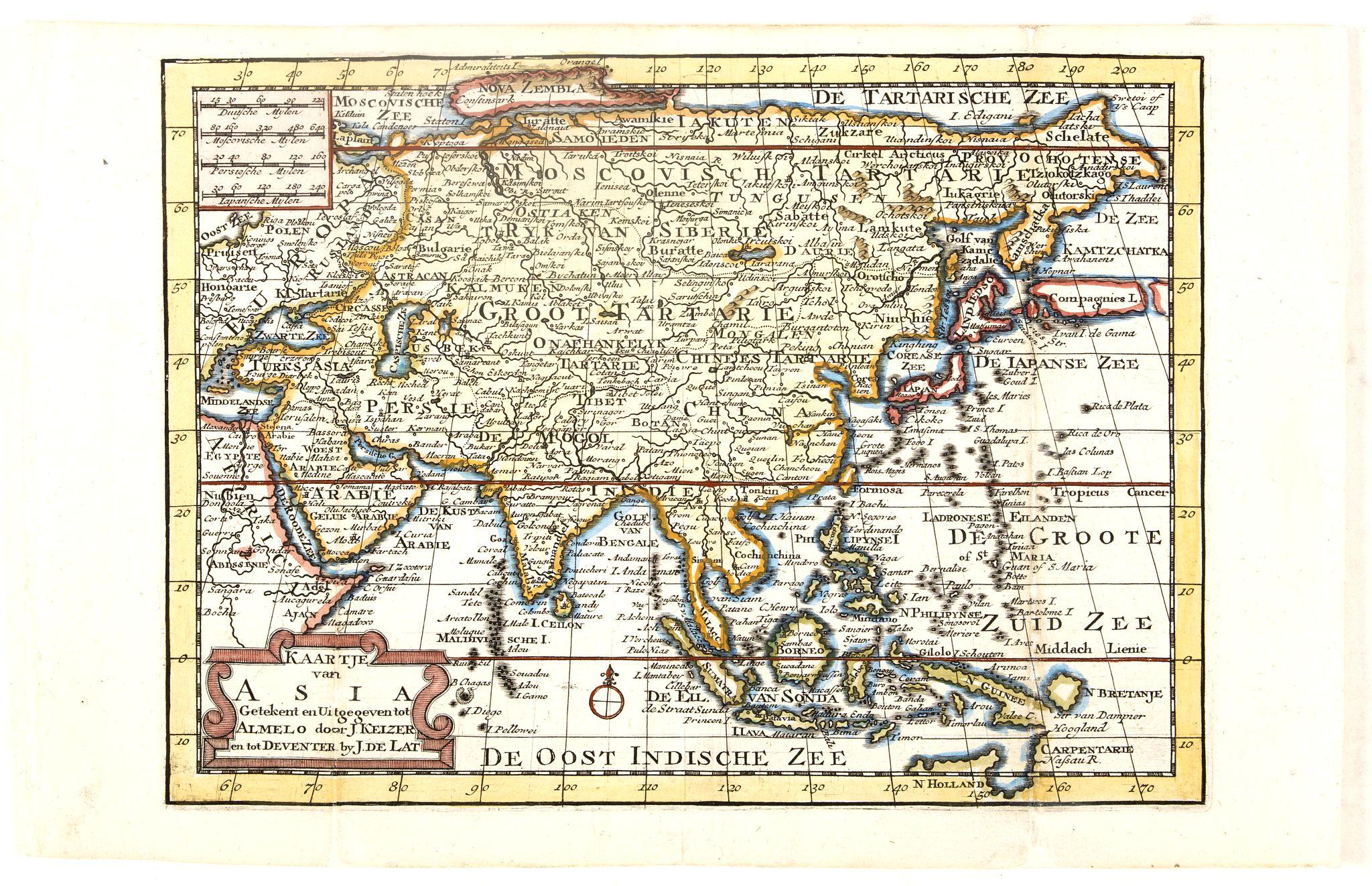KEIZER, J. / DE LAT, J. -  Kaartje van Asia. . .
