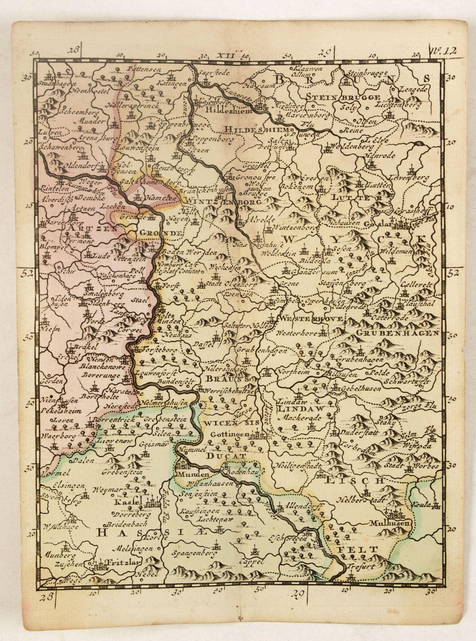 SCHENK, P. -  (Hildesheim, Munden, Steinbrugge, Grubenhagen,  etc.)