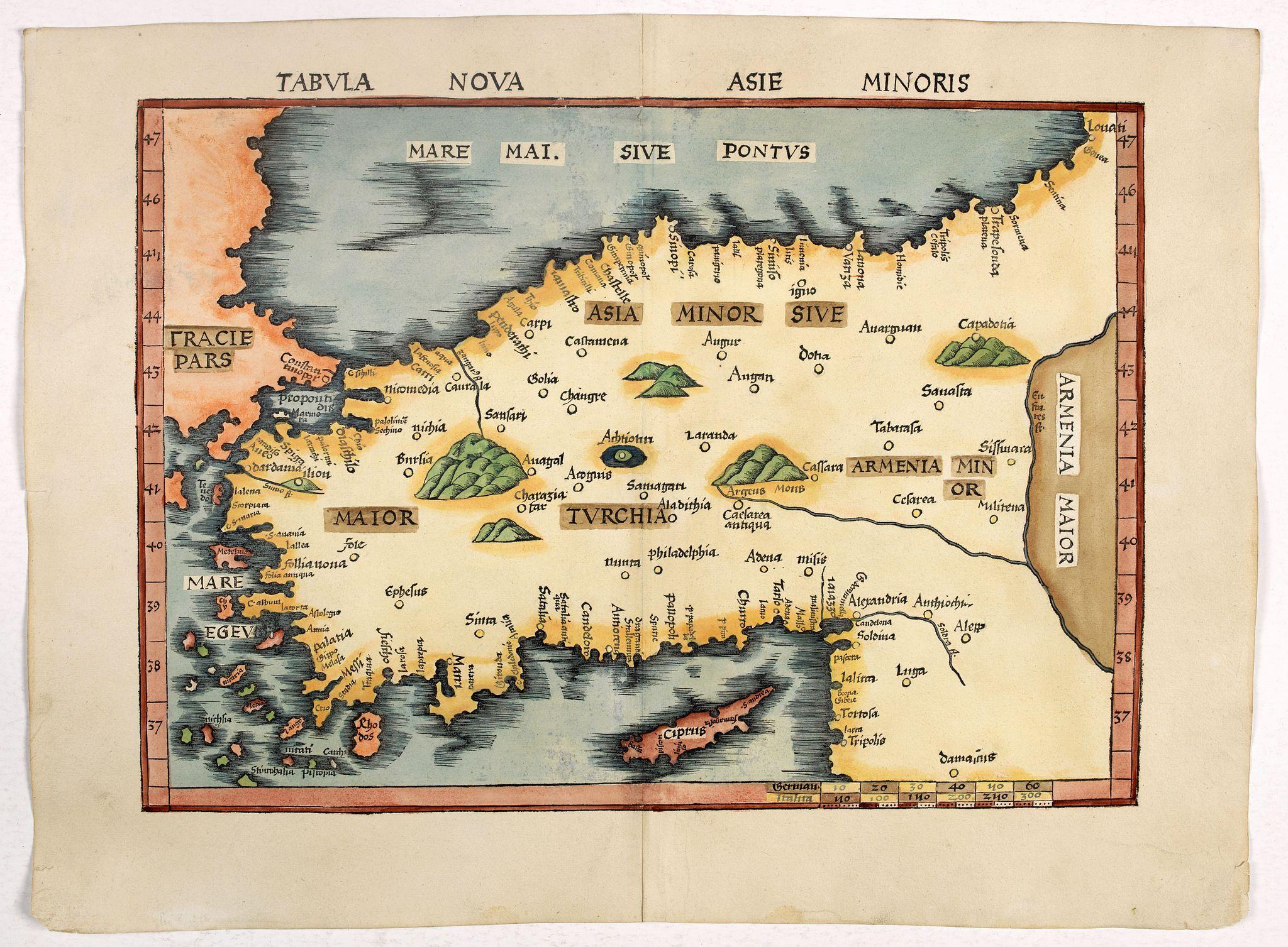 PTOLEMY,C. -  Tabula Nova Asie Minoris.