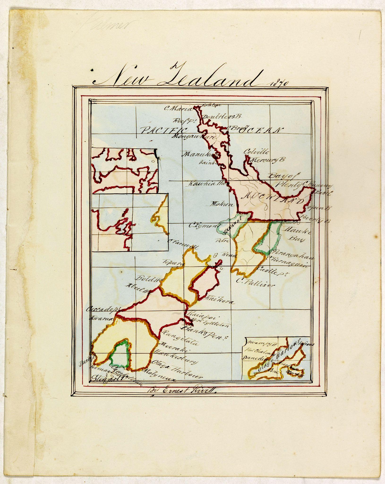 PIVETT, E. -  New Zealand 1870