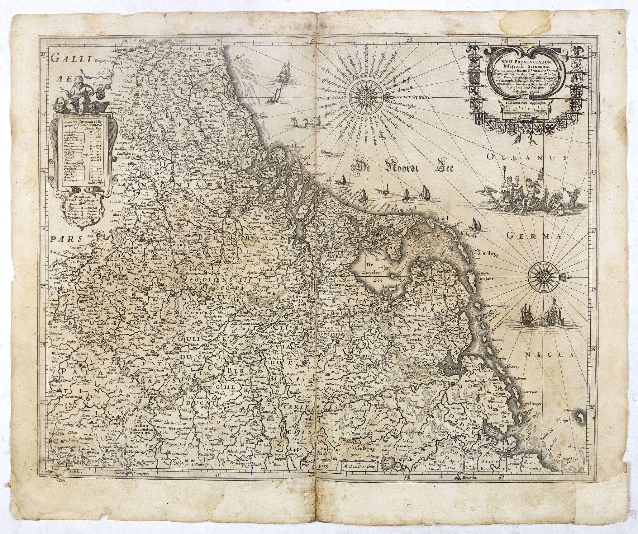 VISSCHER, C.J. -  XVII Provinciarum Inferioris Germaniae, Nec non totius tractus . . .