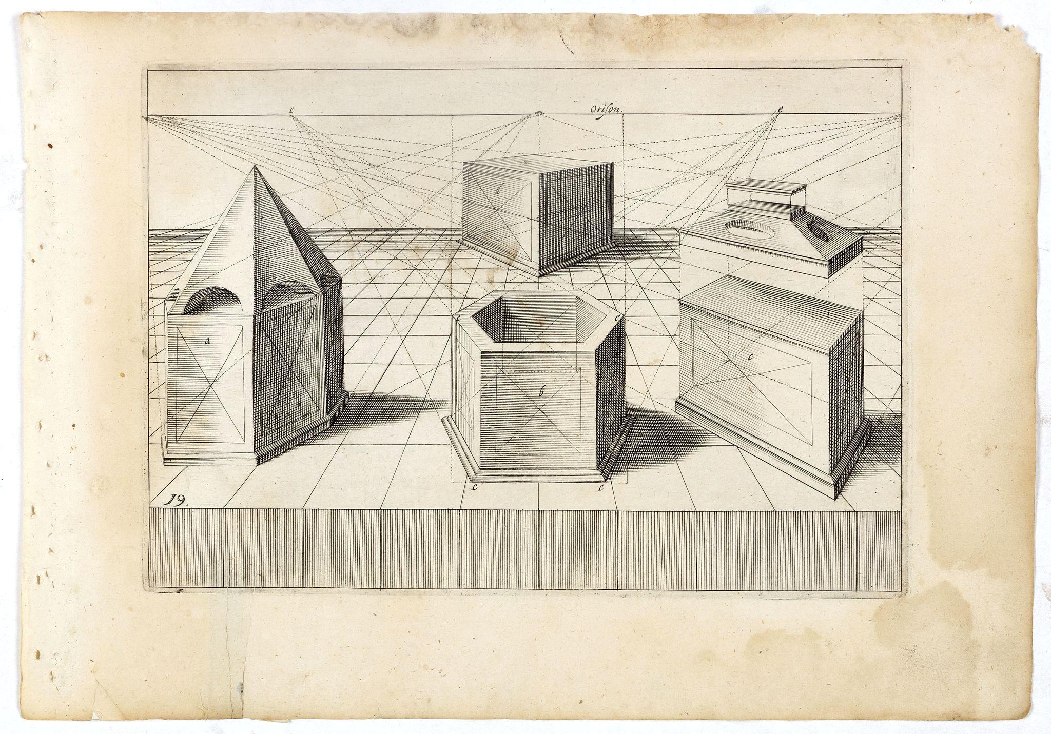 VREDEMAN DE VRIES, J. / HONDIUS, H. -  Perspective print by Vredeman de Vries. 19.