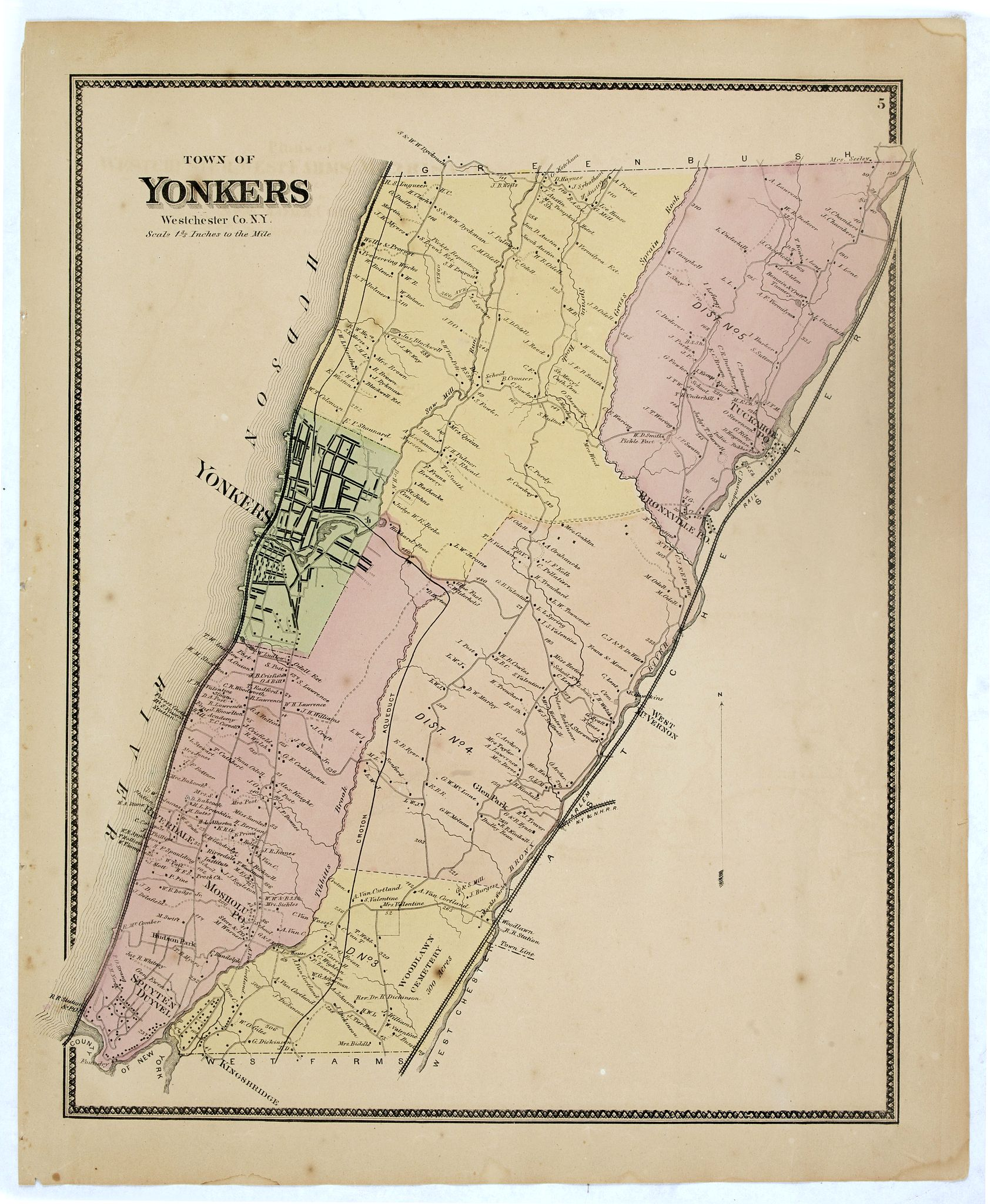 DE BEERS, F.W. -  Town of Yonkers Westchester Co. NY