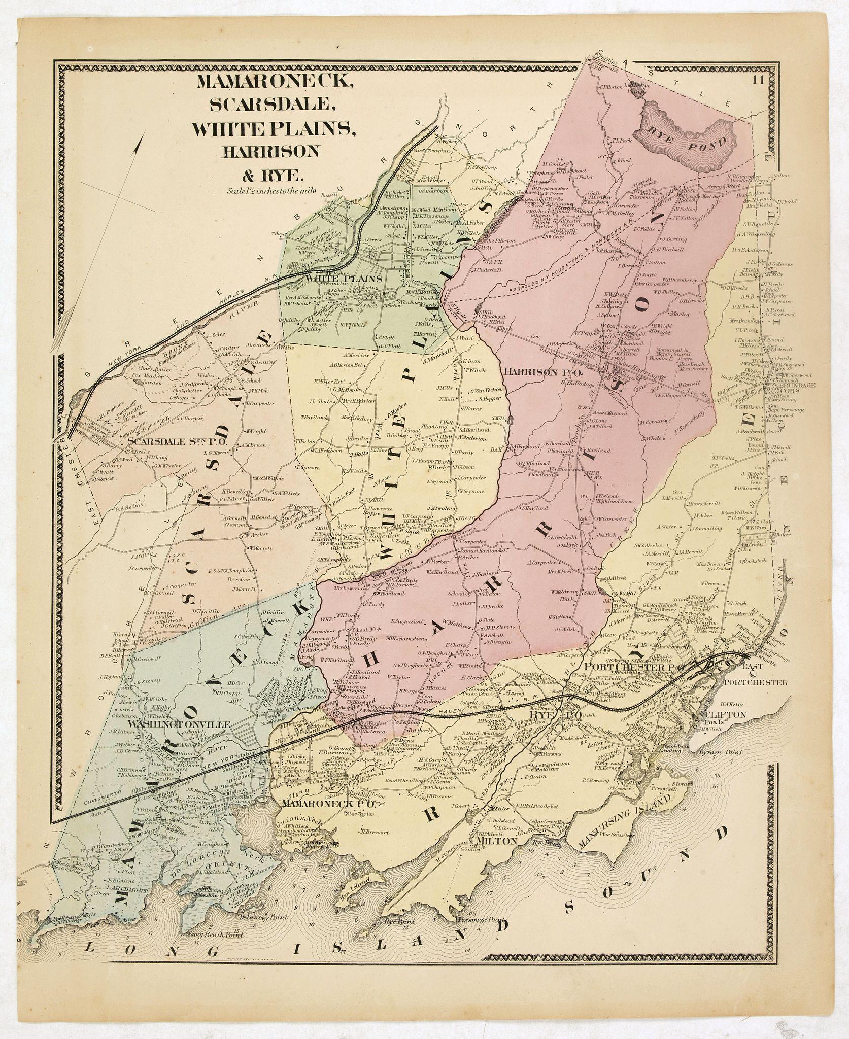 DE BEERS, F.W. -  Mamaroneck, Scarsdale, White plans, Harrison & Rye.