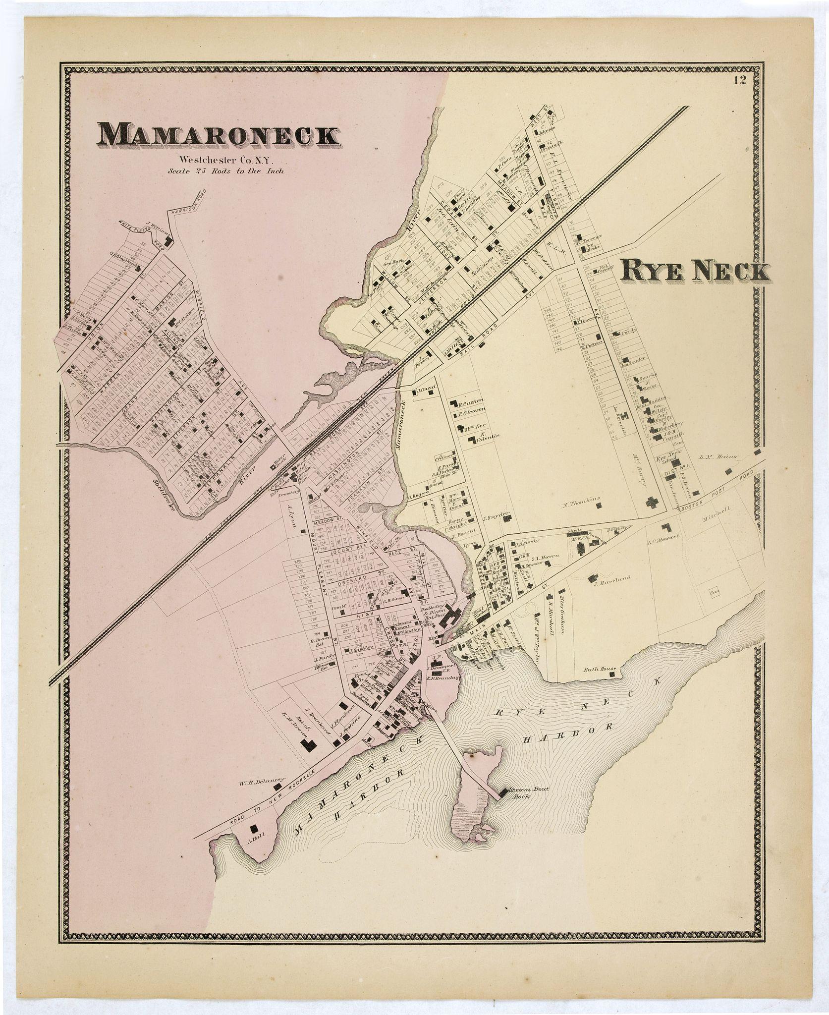 DE BEERS, F.W. -  Mamaroneck.