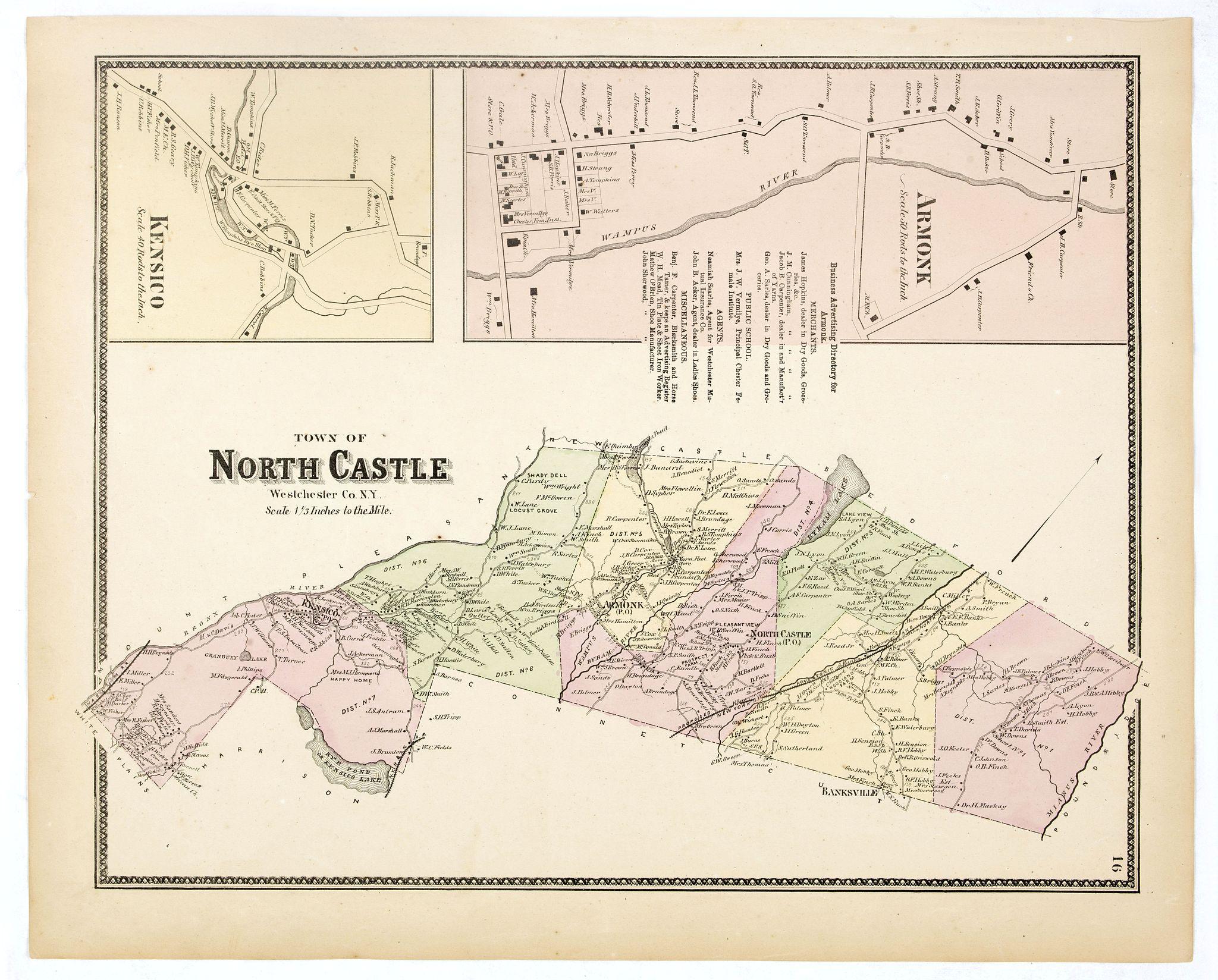 DE BEERS, F.W. -  Town of North Castle.
