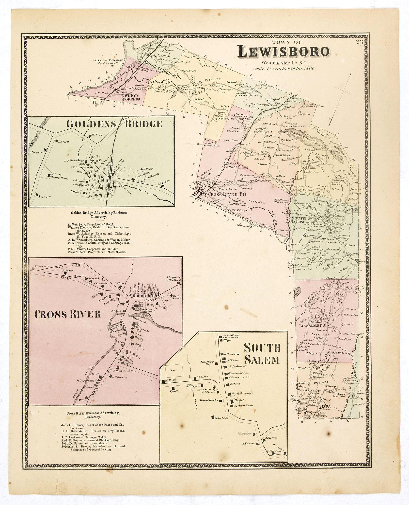 DE BEERS, F.W. -  Town of Lewisboro.