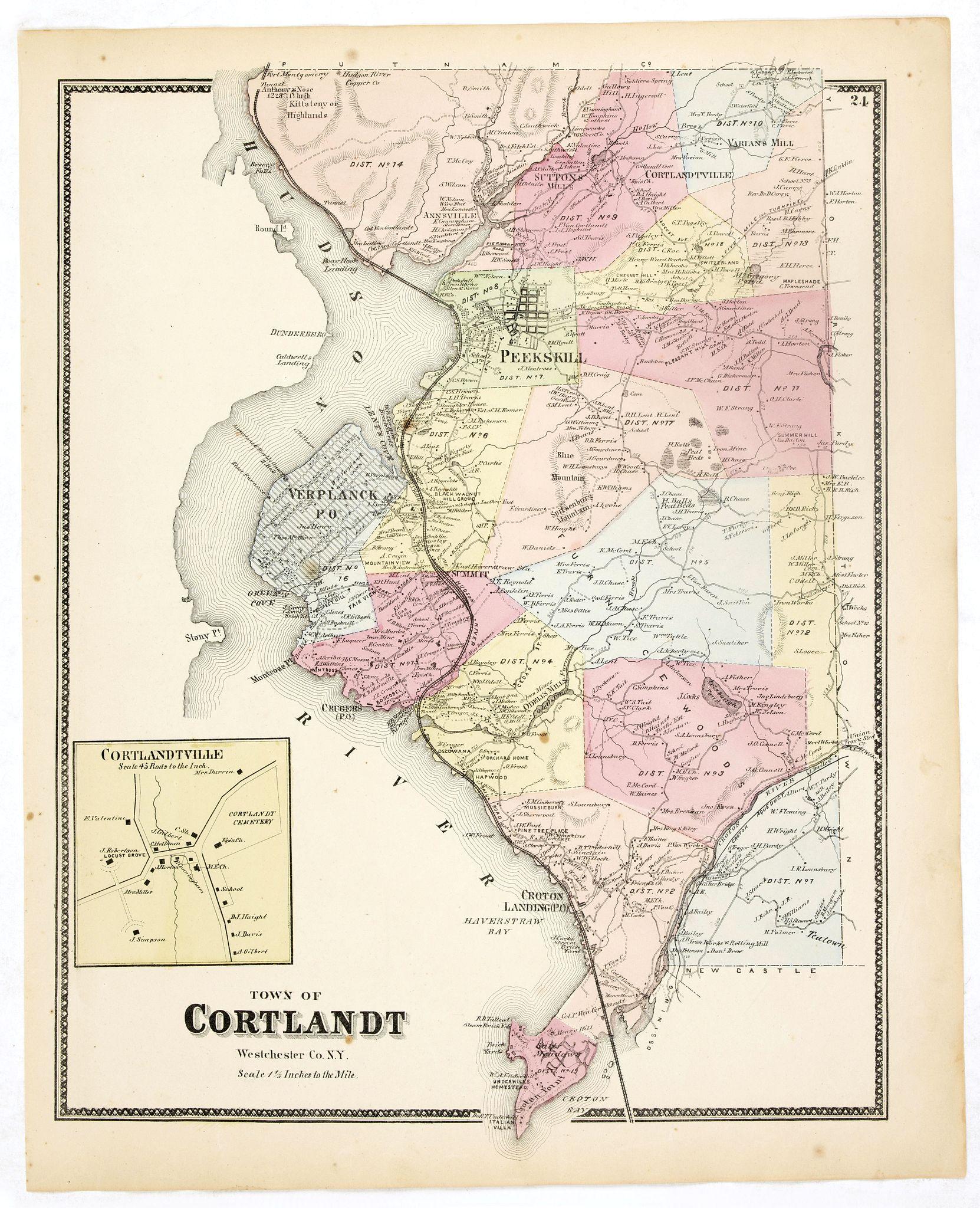 DE BEERS, F.W. -  Town of Cortlandt.