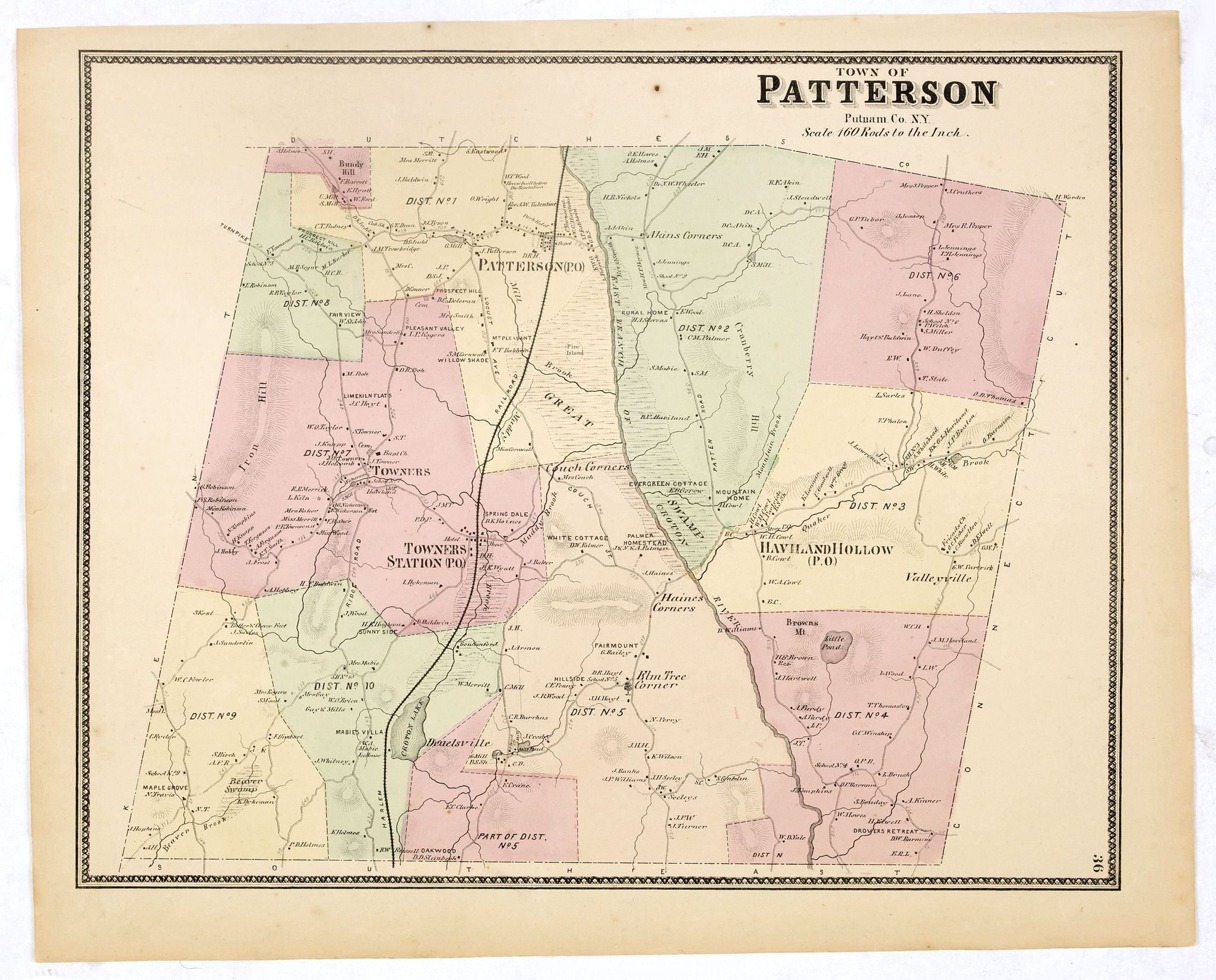 DE BEERS, F.W. -  Town of Patterson.