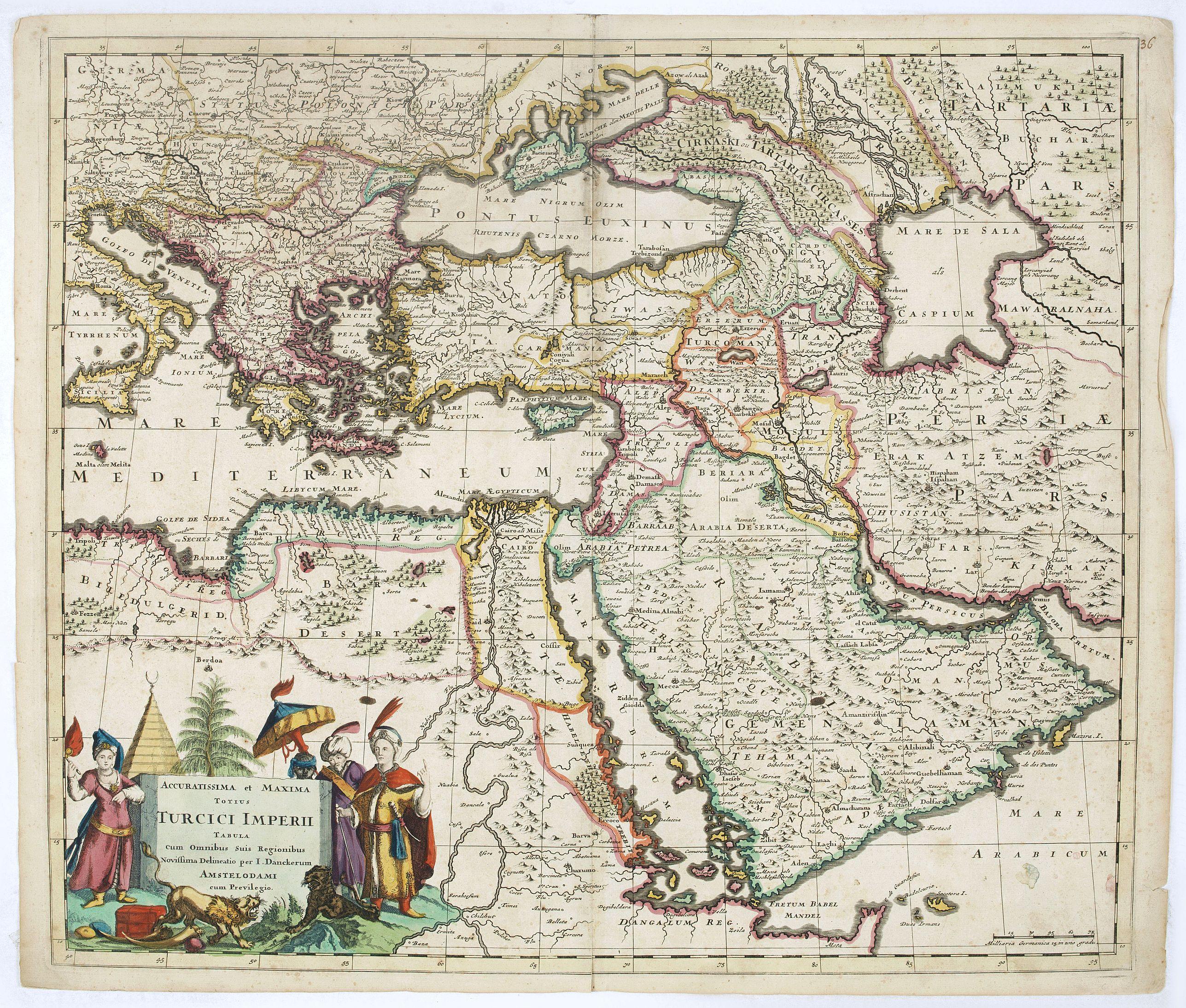 DANCKERTS, T. -  Accuratissima et maxima totius Turcici Imperii..