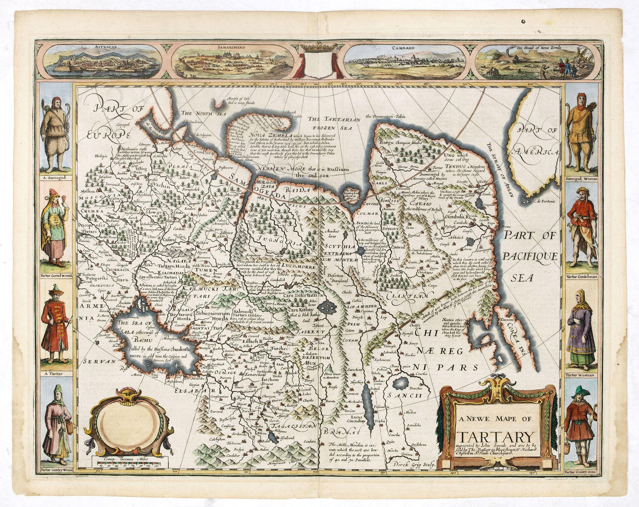 SPEED, J. / BASSETT, J. -  A newe mape of Tartary.