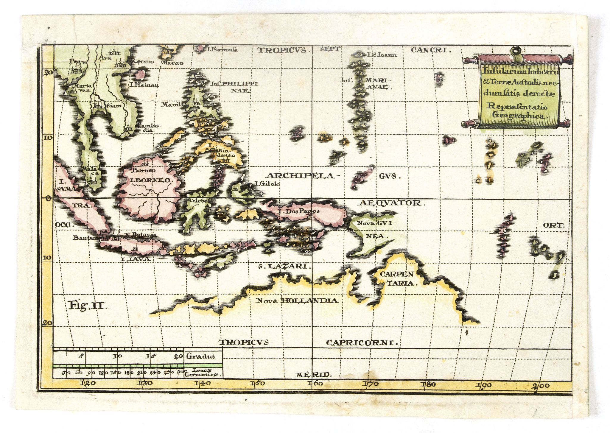 ANONYMOUS -  Insularum Indicaru & Terrae Australis necdum fatis derectae Repraesentatio Geographica.