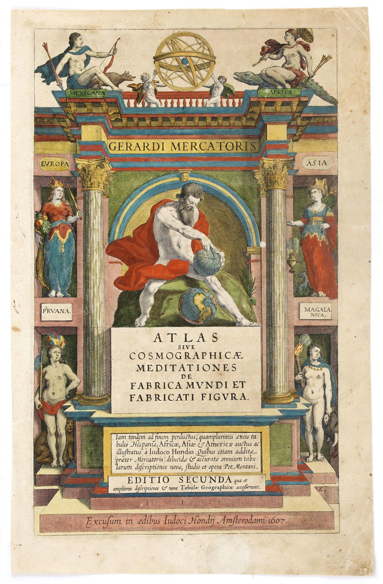 MERCATOR, G./ HONDIUS, J. -  [Title page] Atlas sive Cosmographicae Meditationes . . .
