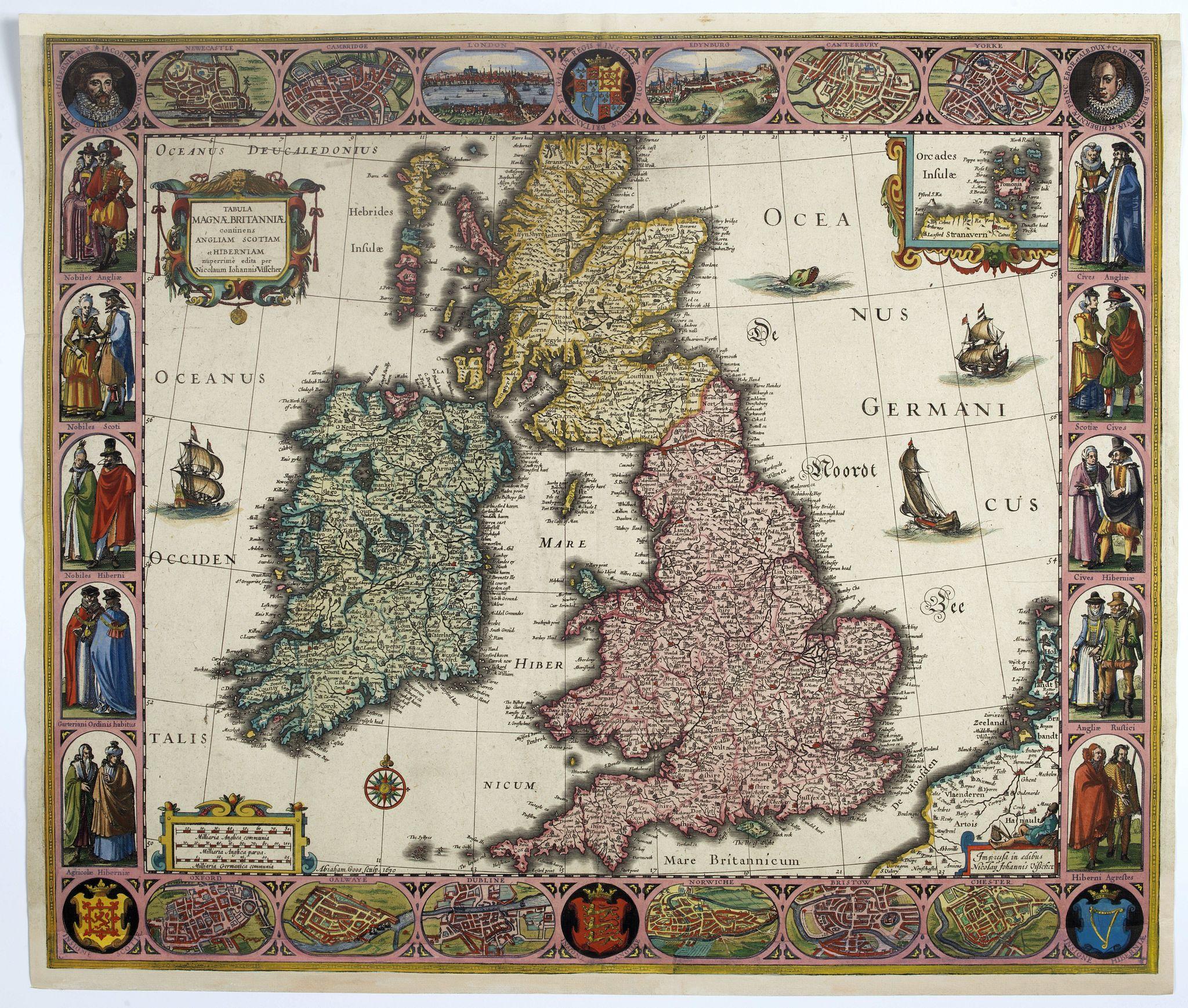 VISSCHER, N. -  Tabula Magnae Britanniae continens Angliam Scotiam..