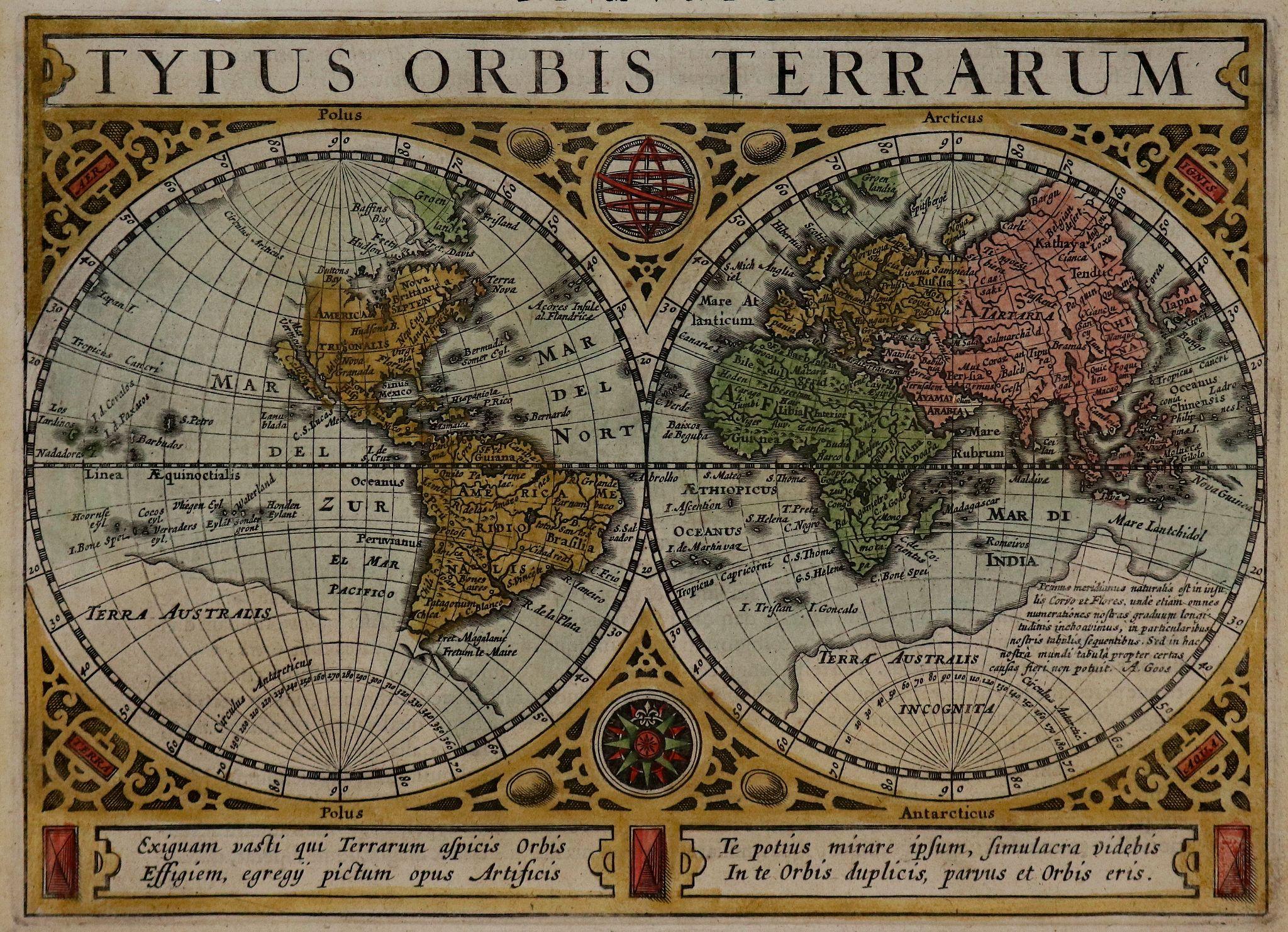 MERCATOR, G./ HONDIUS, J. -  Typus Orbis Terrarum.