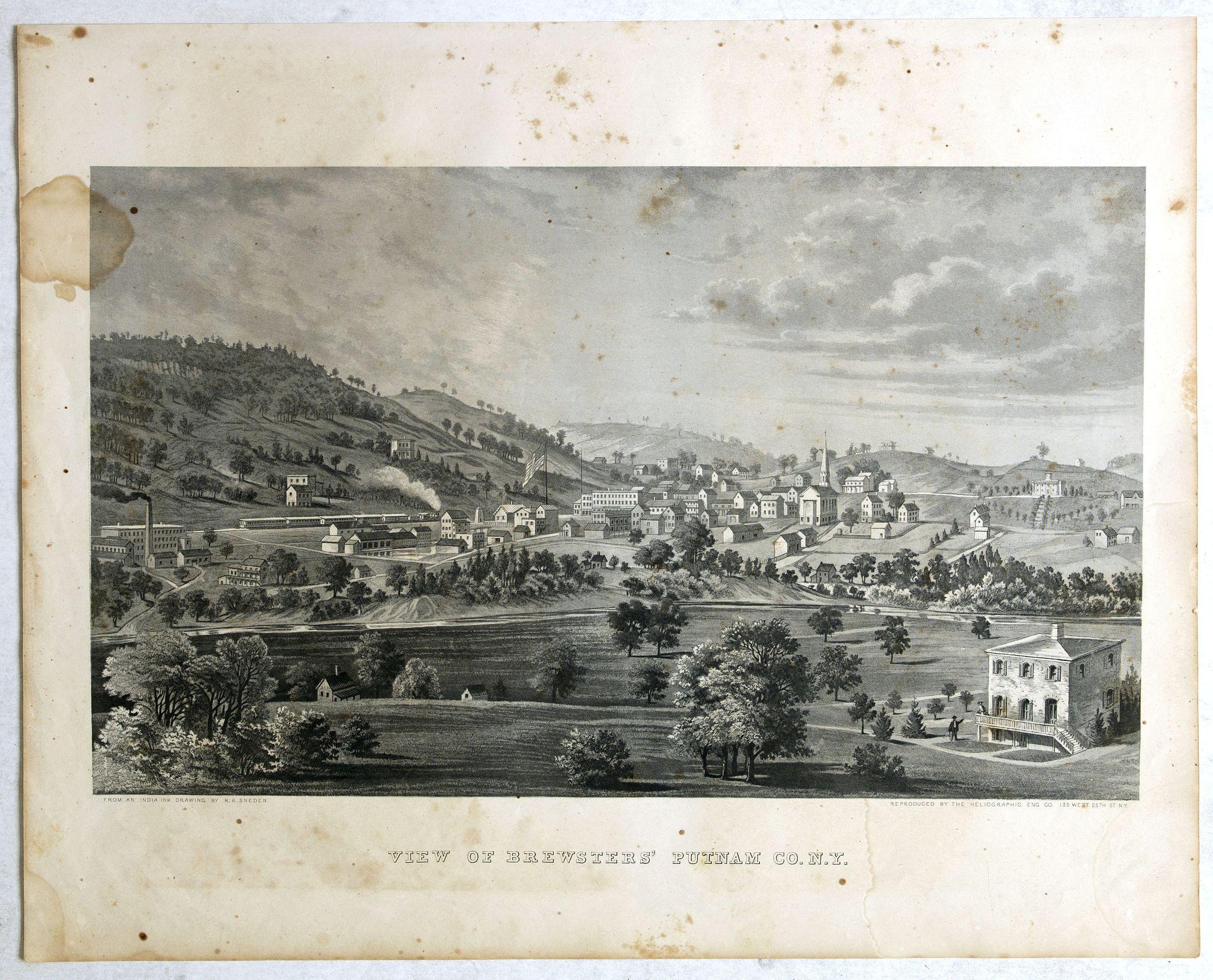 DE BEERS, F.W. -  View of Brewsters' Putnam Co.N.Y.