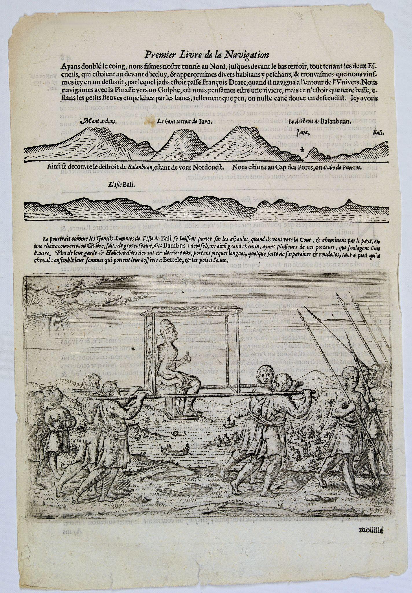 LODEWYCKSZ, Willem -  [How the genteel folk of Bali are transported]