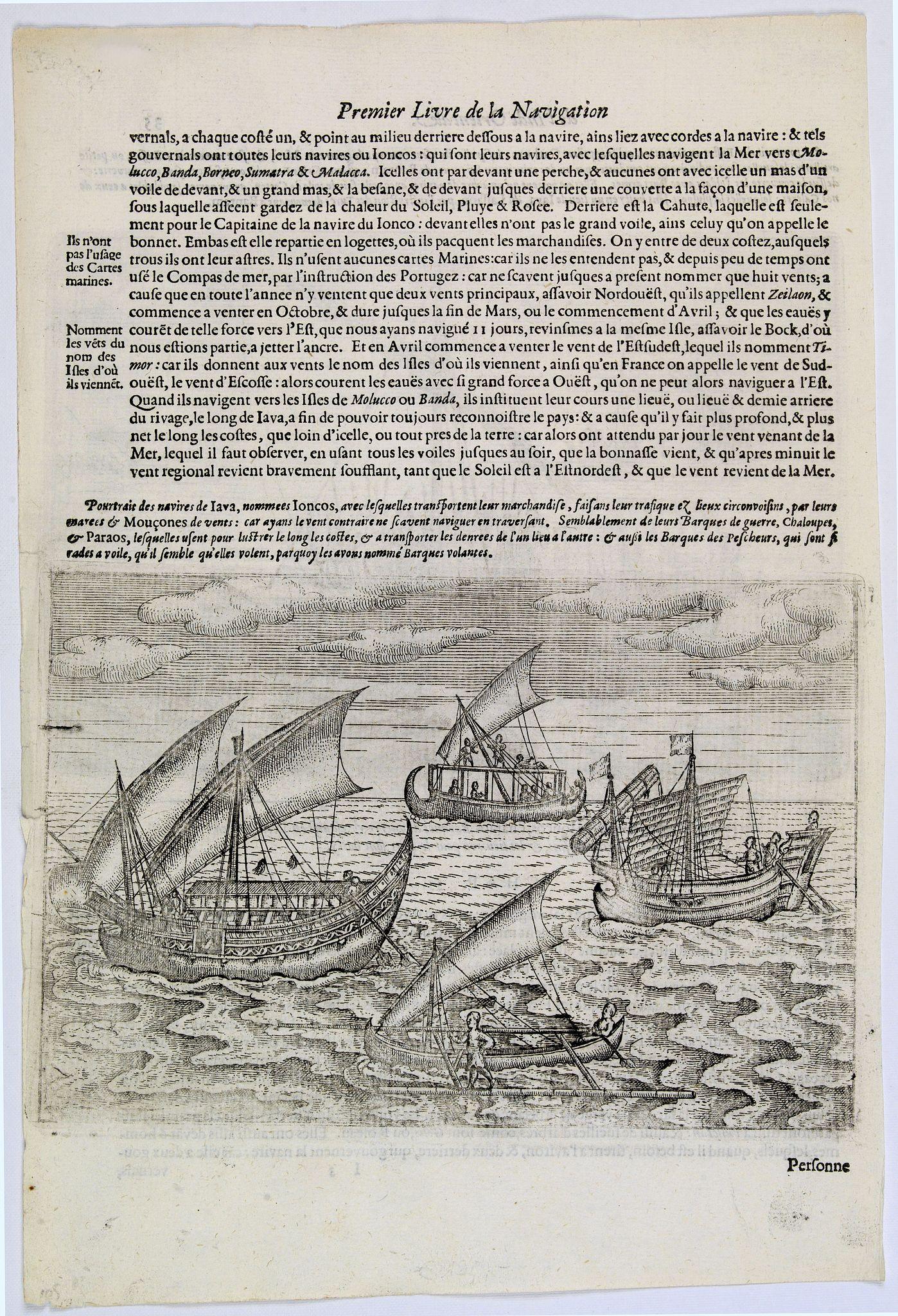 LODEWYCKSZ, Willem -  [Javanese Vessels]