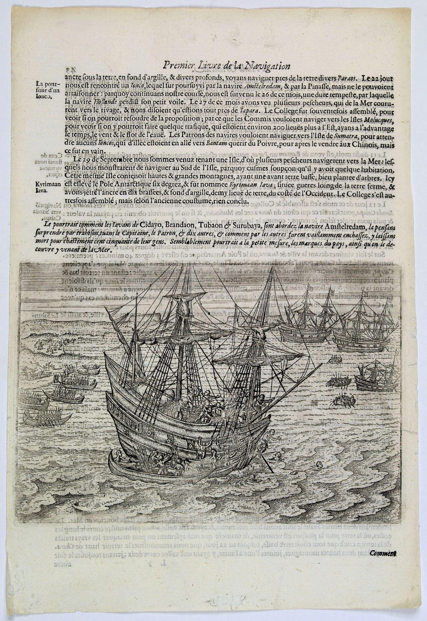 LODEWYCKSZ, Willem -  [Dutch ship Amsterdam].