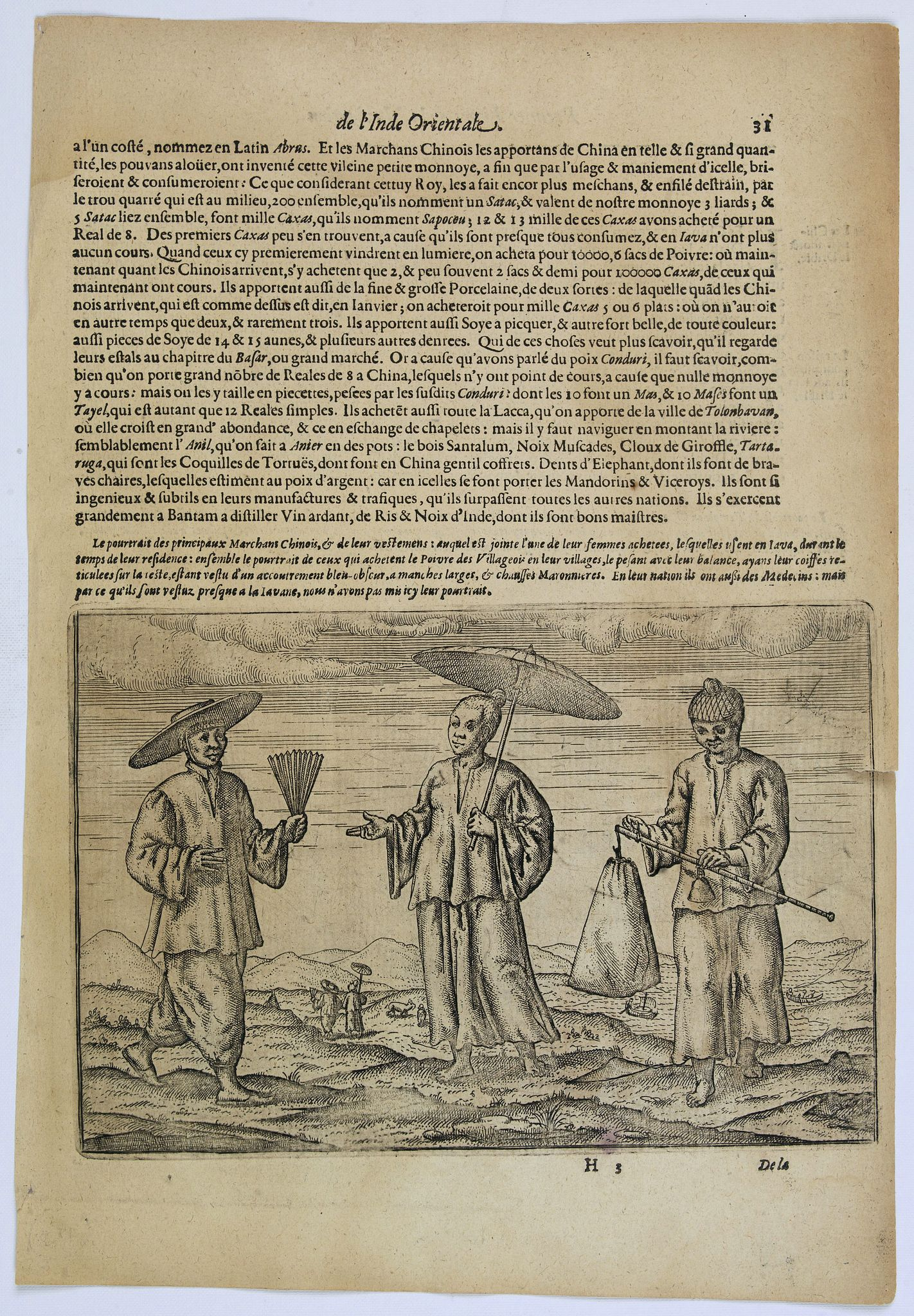 LODEWYCKSZ, Willem,  [Chinese Merchants and temple]., antique map, old maps