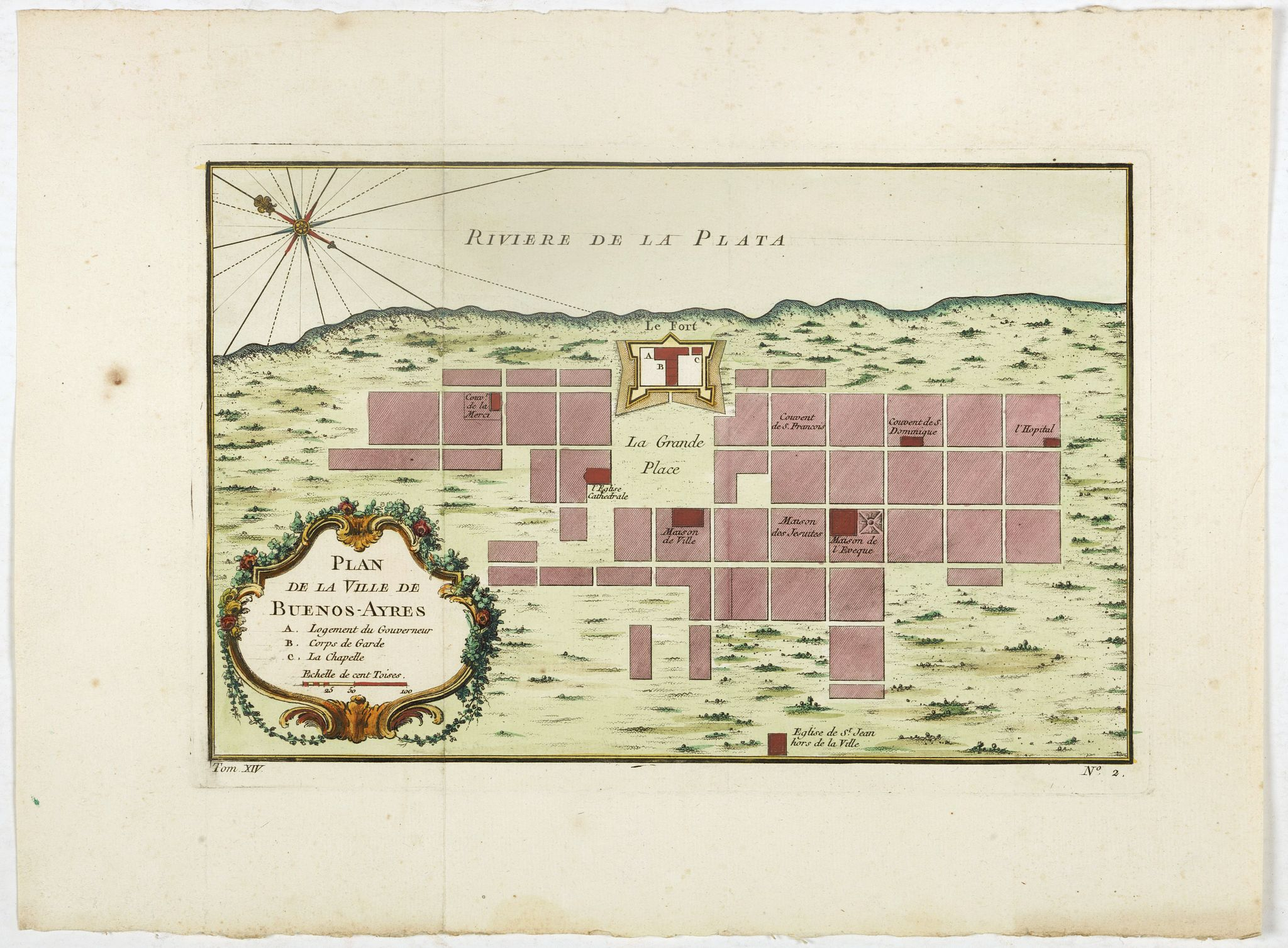 BELLIN, J.N. -  Plan de la ville de Buenos-Ayres.