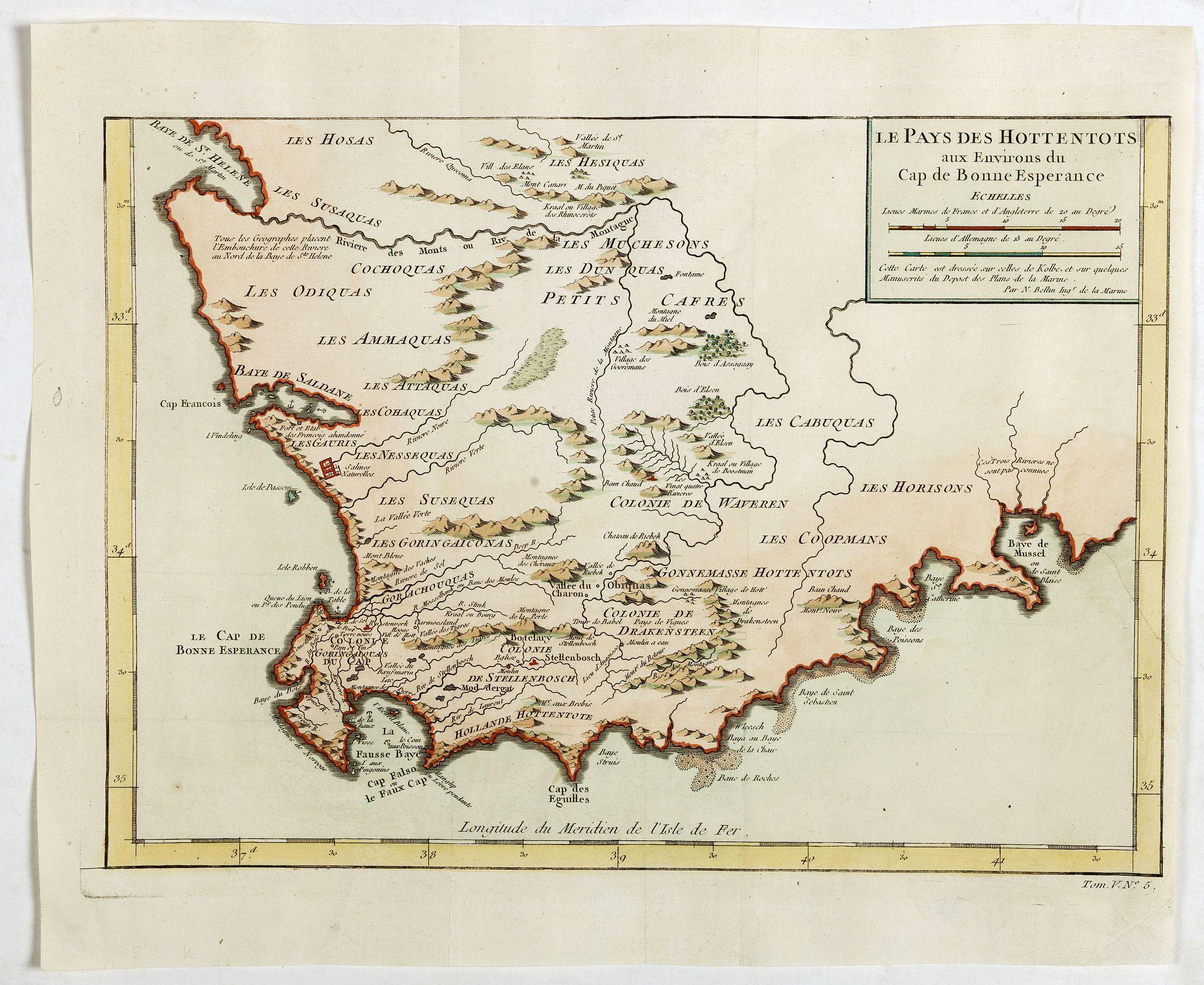 BELLIN, J.N. -  Le Pays des Hottentots . . .
